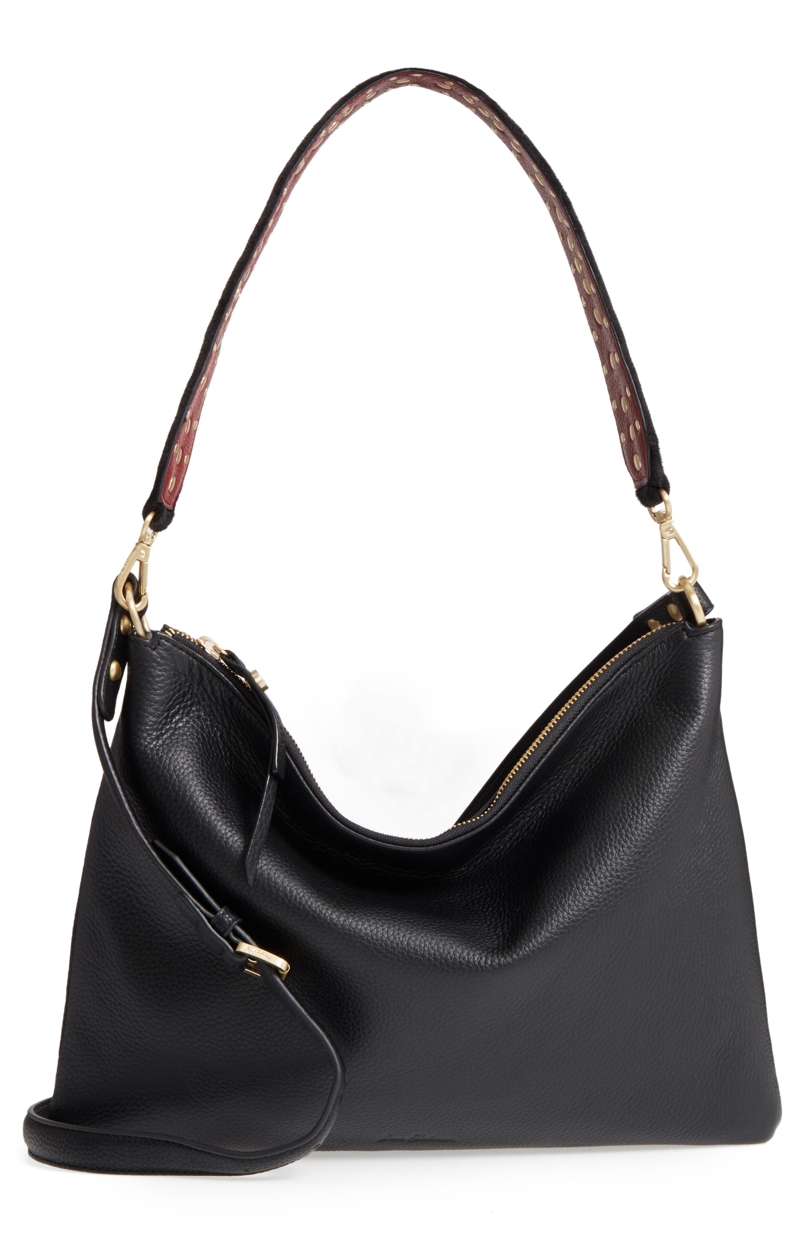 Raelyn Leather Shoulder Bag,                             Main thumbnail 1, color,                             001