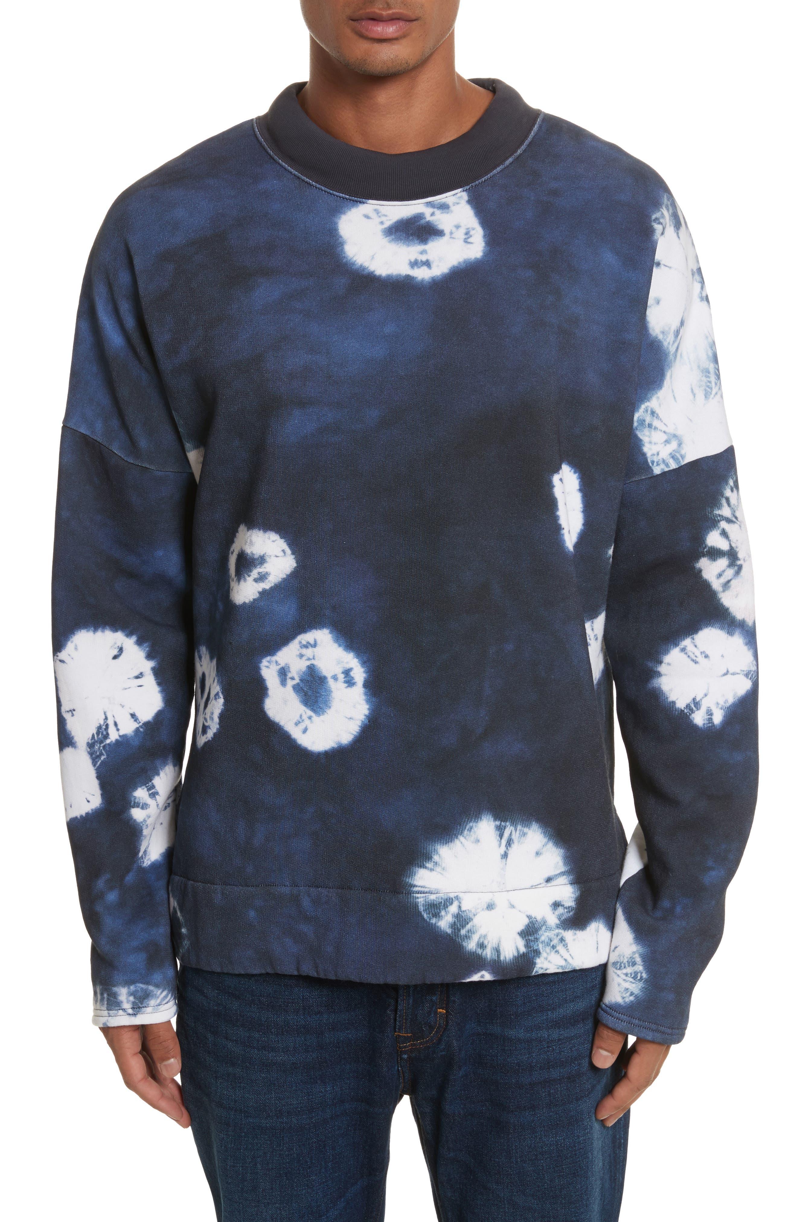 Fellke Bleach Indigo Sweatshirt,                             Main thumbnail 1, color,                             410