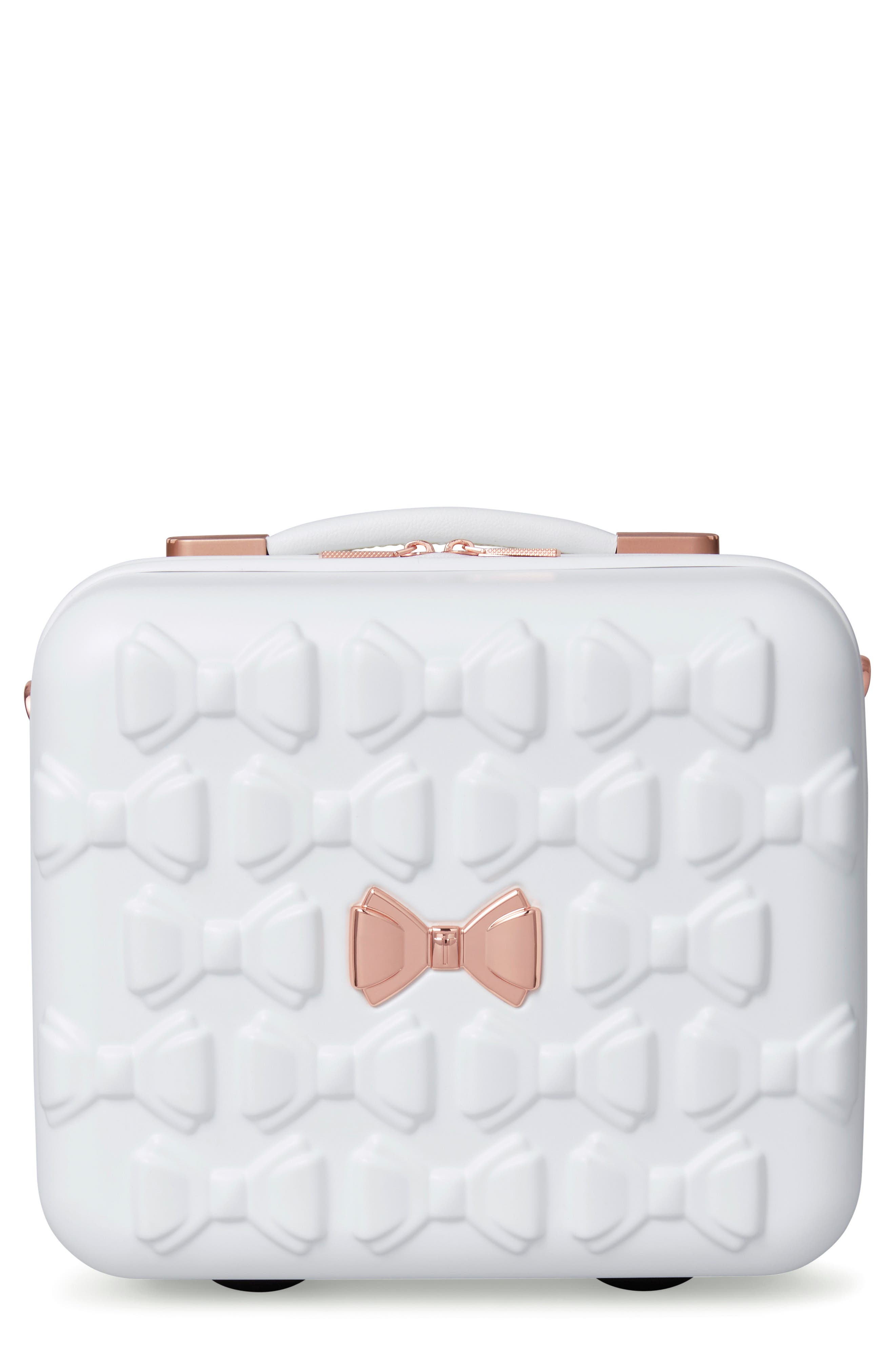 Beau Hardshell Vanity Case,                         Main,                         color, WHITE