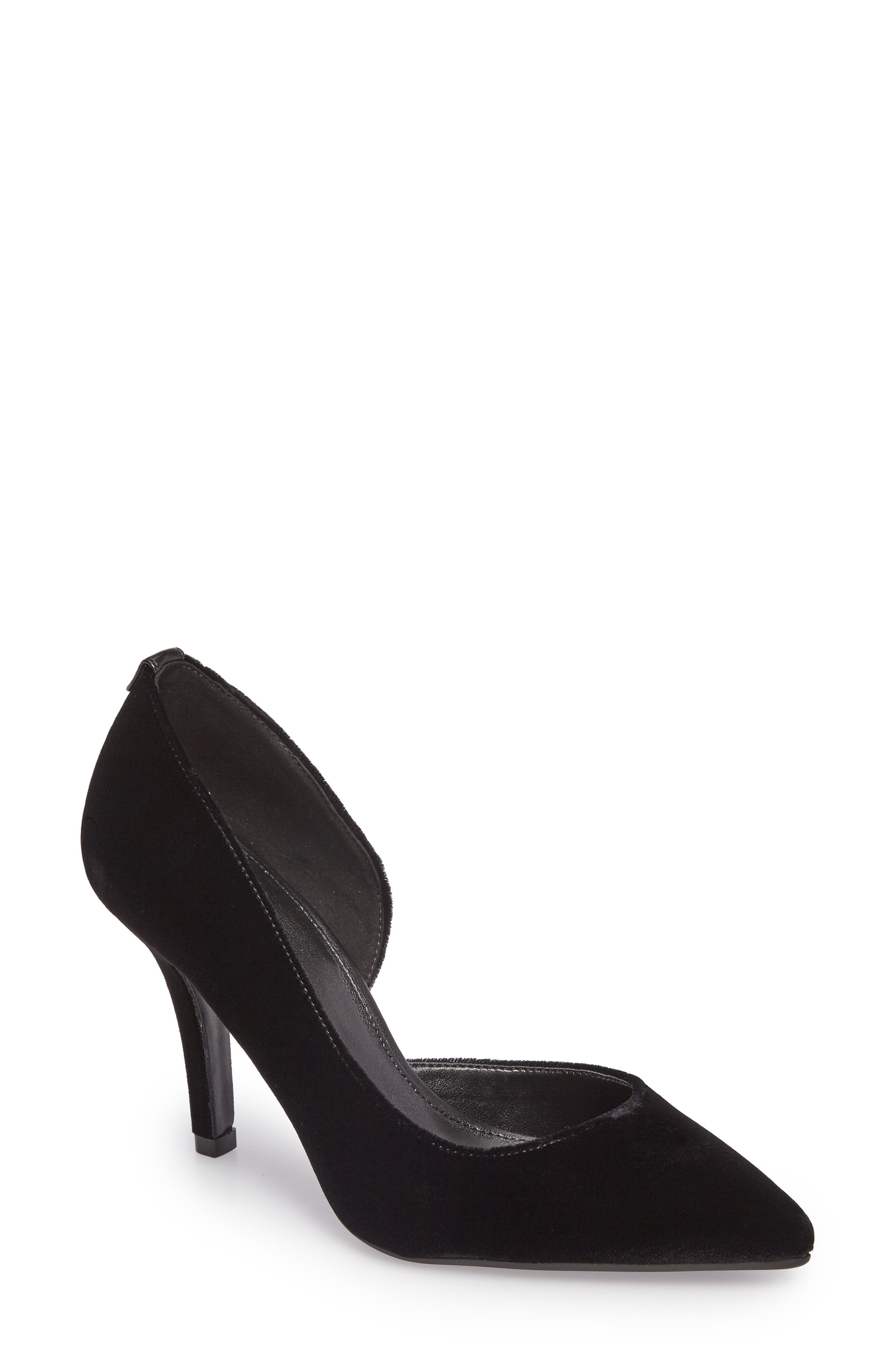 'Nathalie Flex' Half D'Orsay Pump,                             Main thumbnail 1, color,                             002