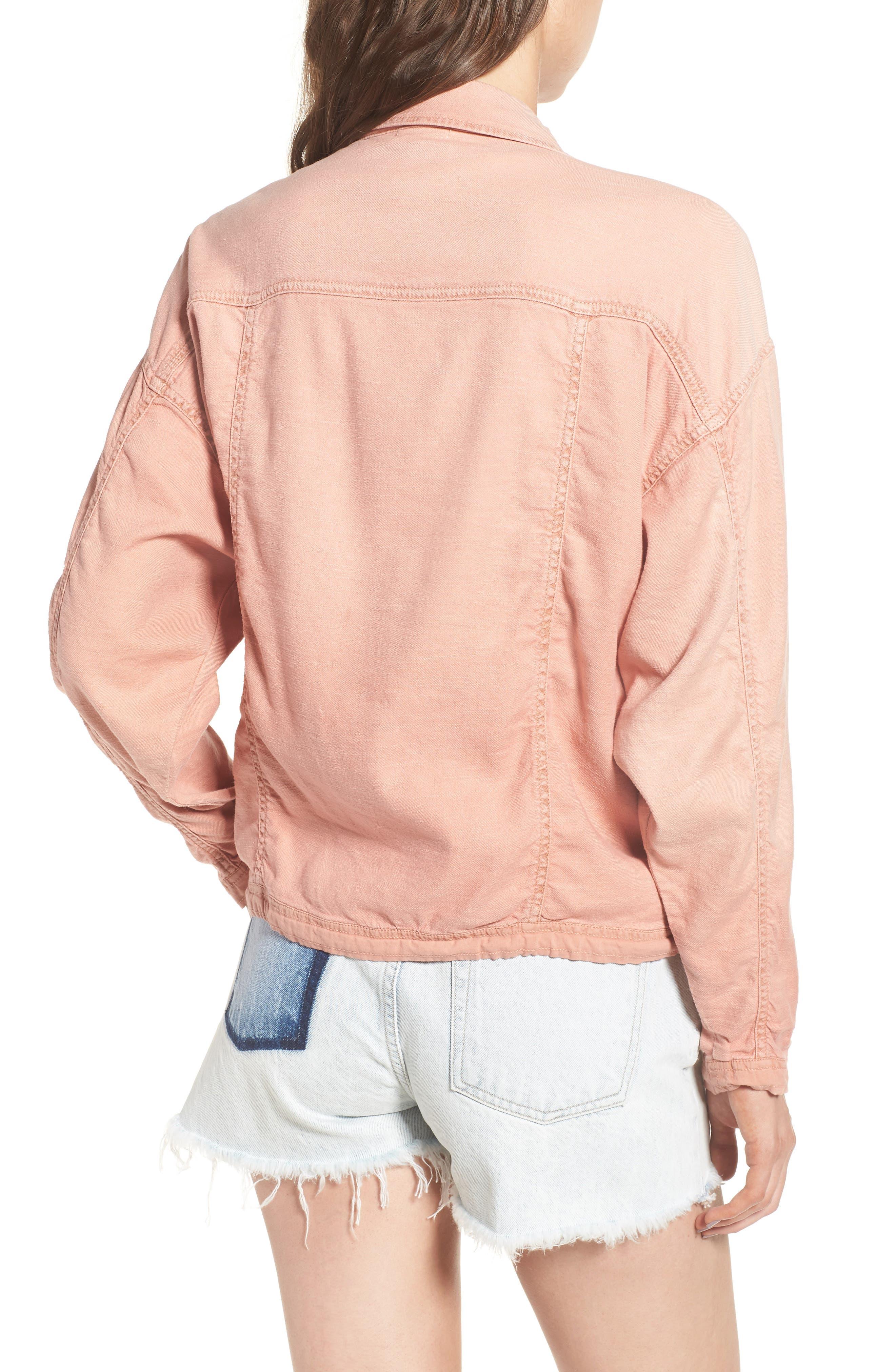 Linen Blend Drape Jacket,                             Alternate thumbnail 4, color,
