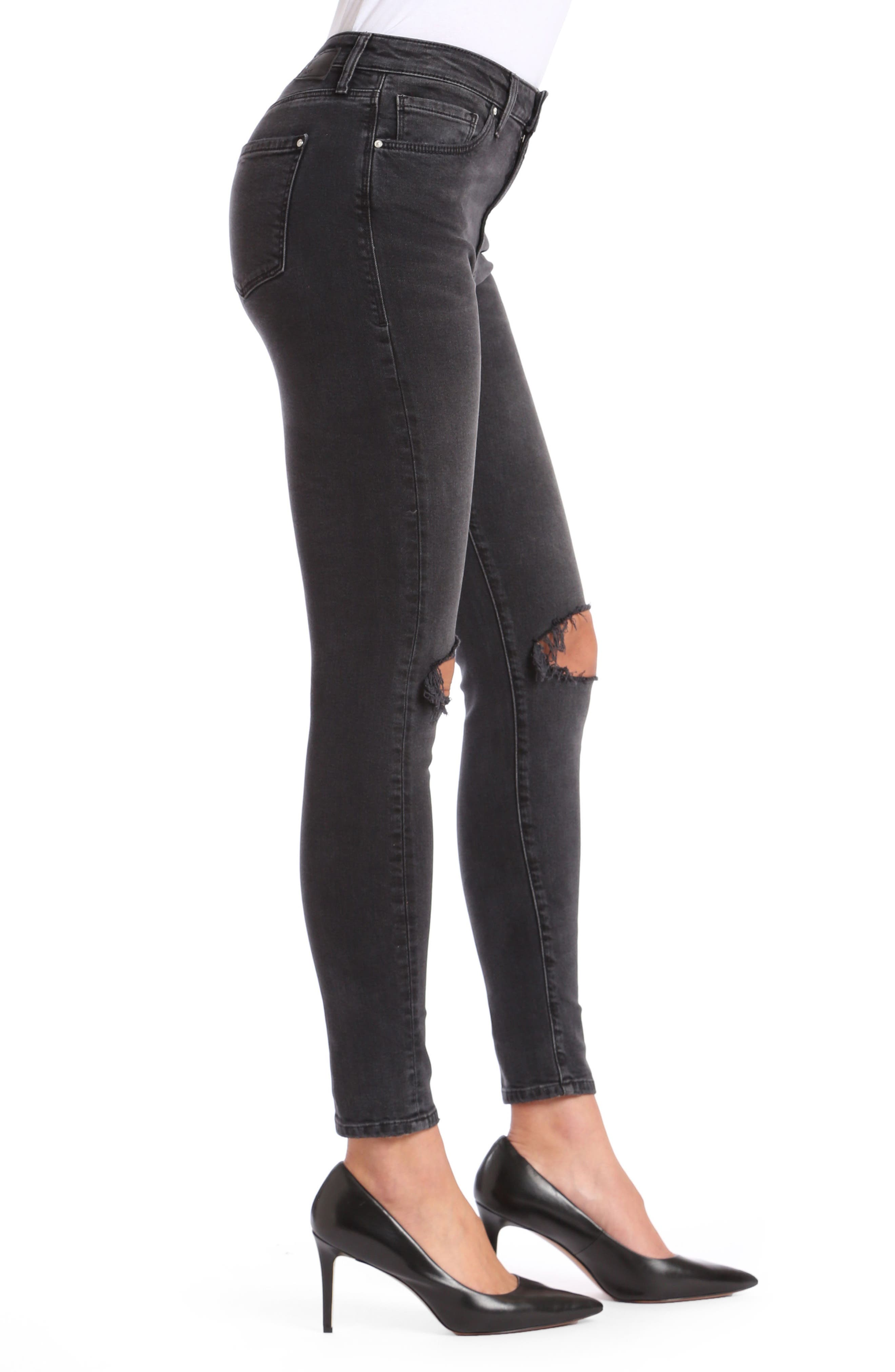 Lucy Ripped Super Skinny Jeans,                             Alternate thumbnail 3, color,