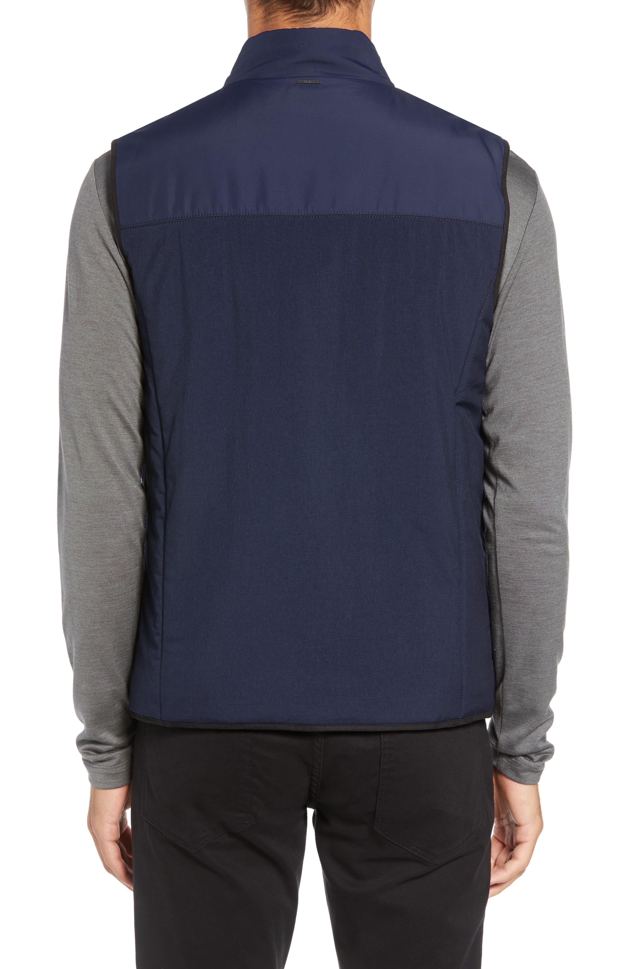 Slim Fit Quilted Vest,                             Alternate thumbnail 2, color,                             NAVY