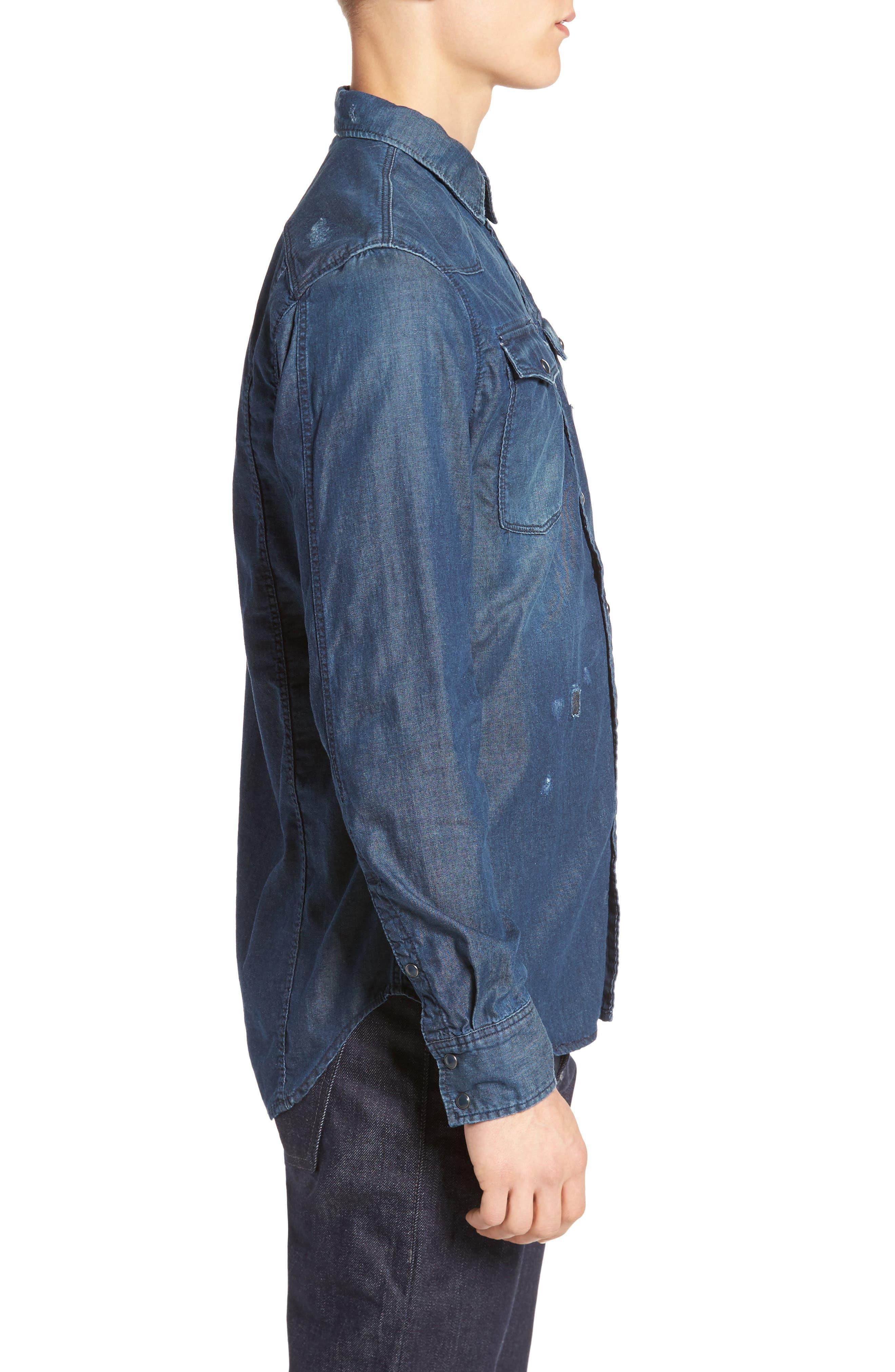 Kinney Denim Shirt,                             Alternate thumbnail 3, color,