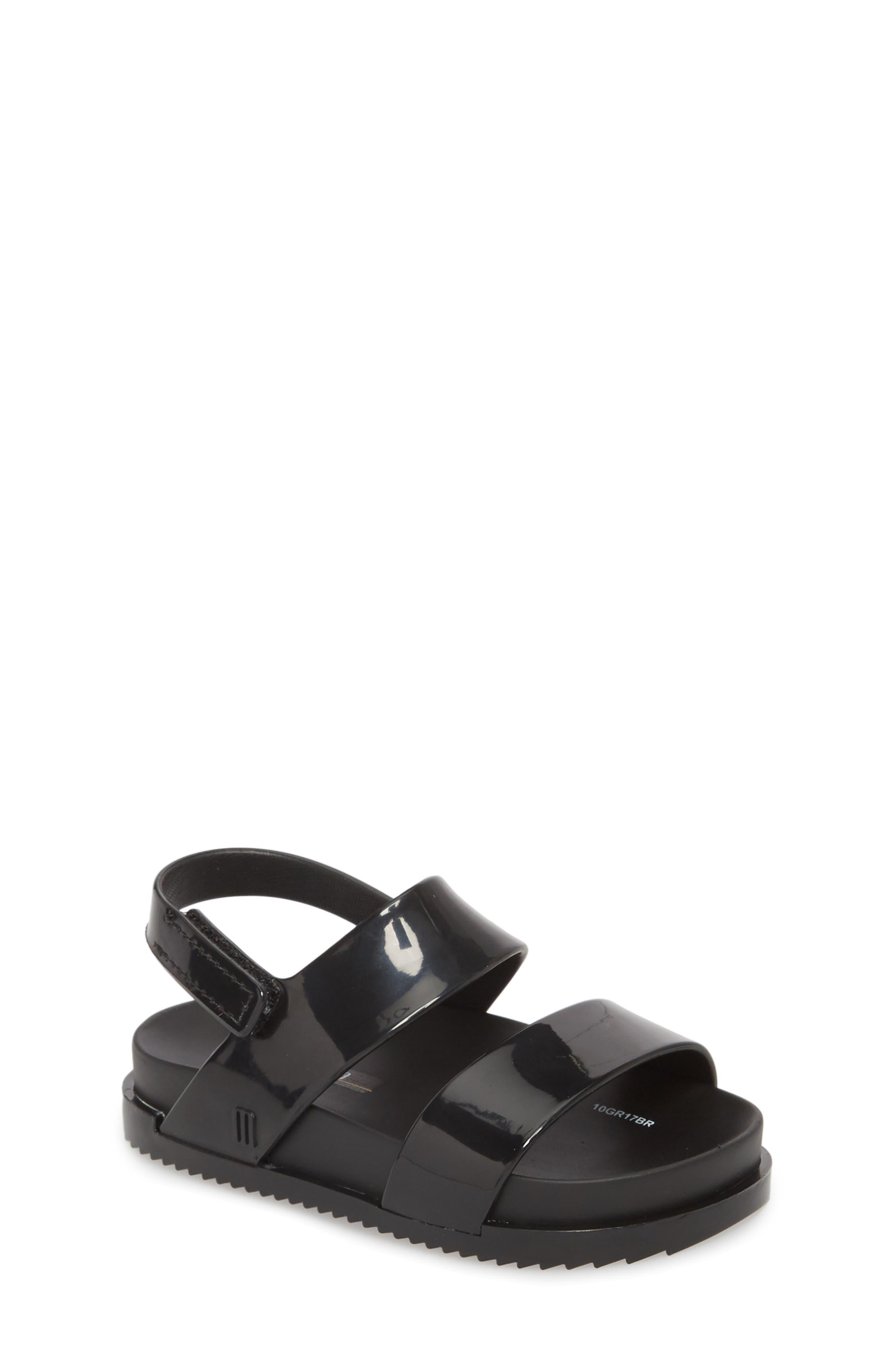 Glittery Cosmic Sandal,                         Main,                         color, BLACK