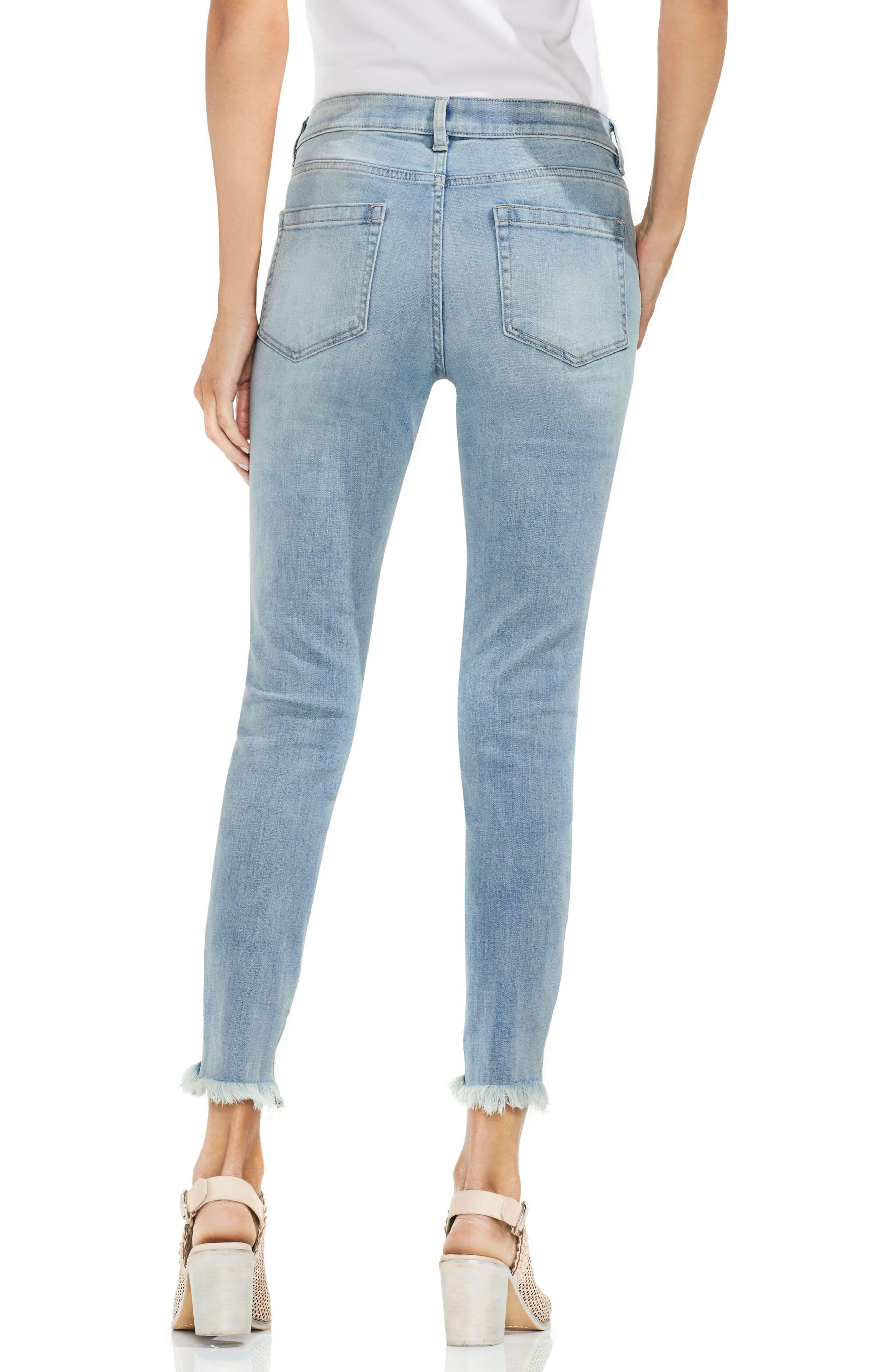 Uneven Hem Skinny Jeans,                             Alternate thumbnail 5, color,