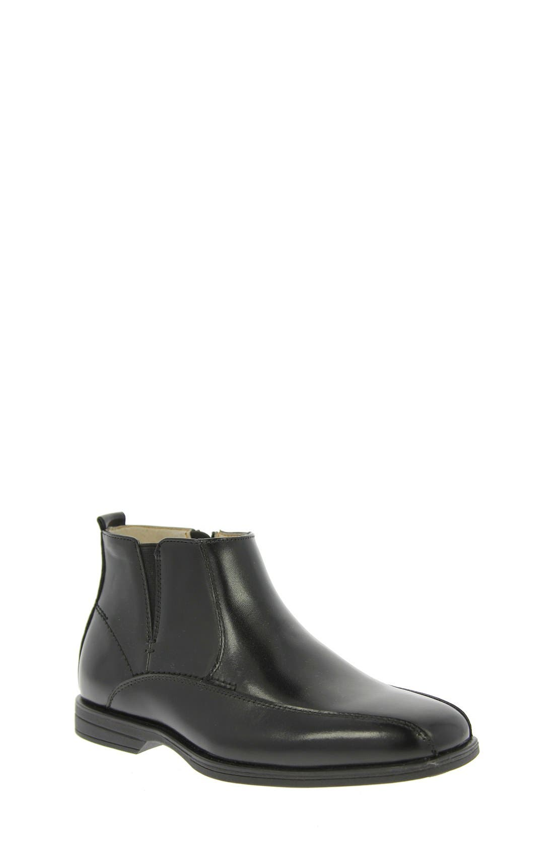 Reveal Chelsea Boot,                             Main thumbnail 1, color,                             BLACK