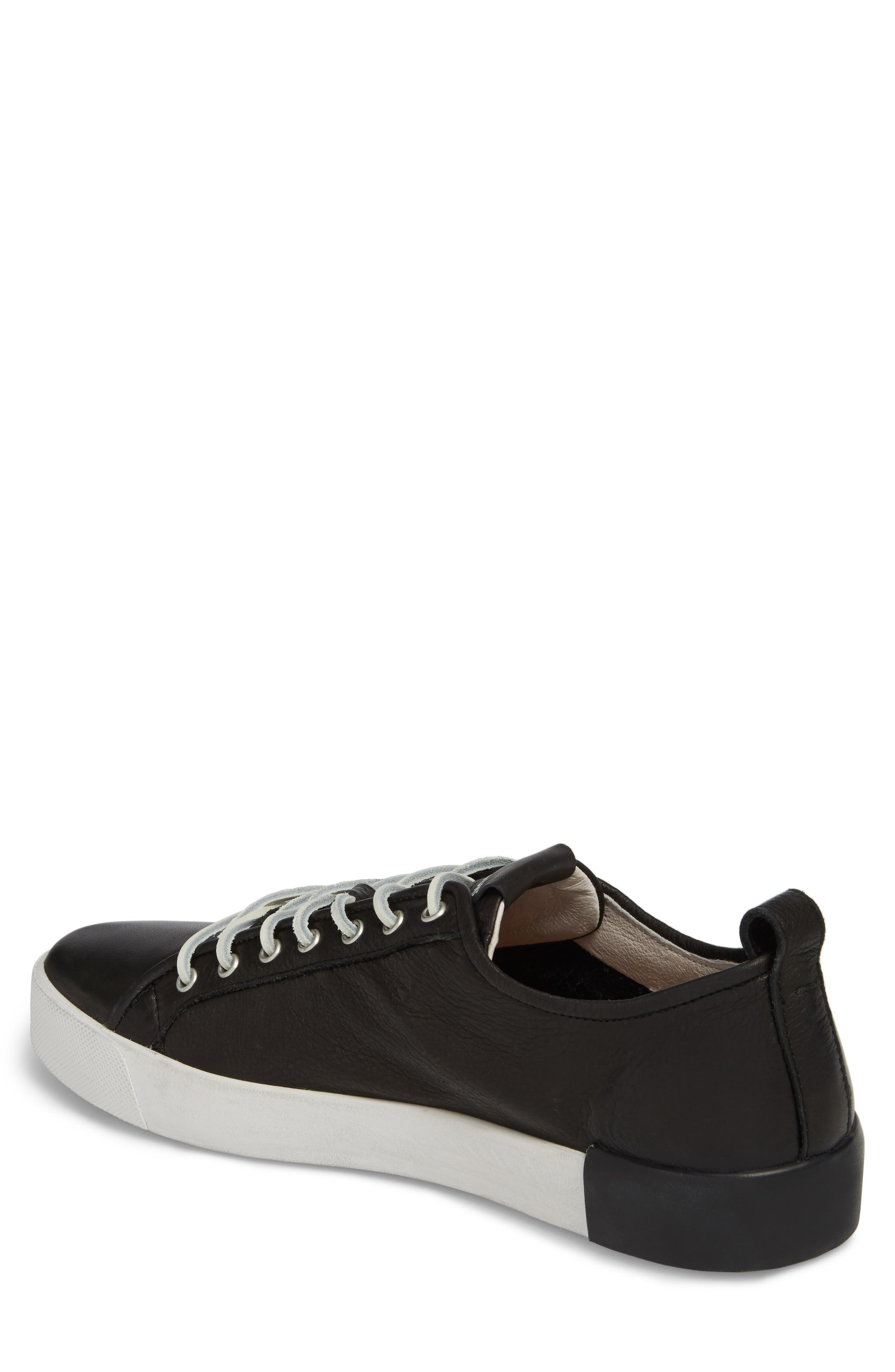 PM66 Low Top Sneaker,                             Alternate thumbnail 2, color,                             BLACK LEATHER