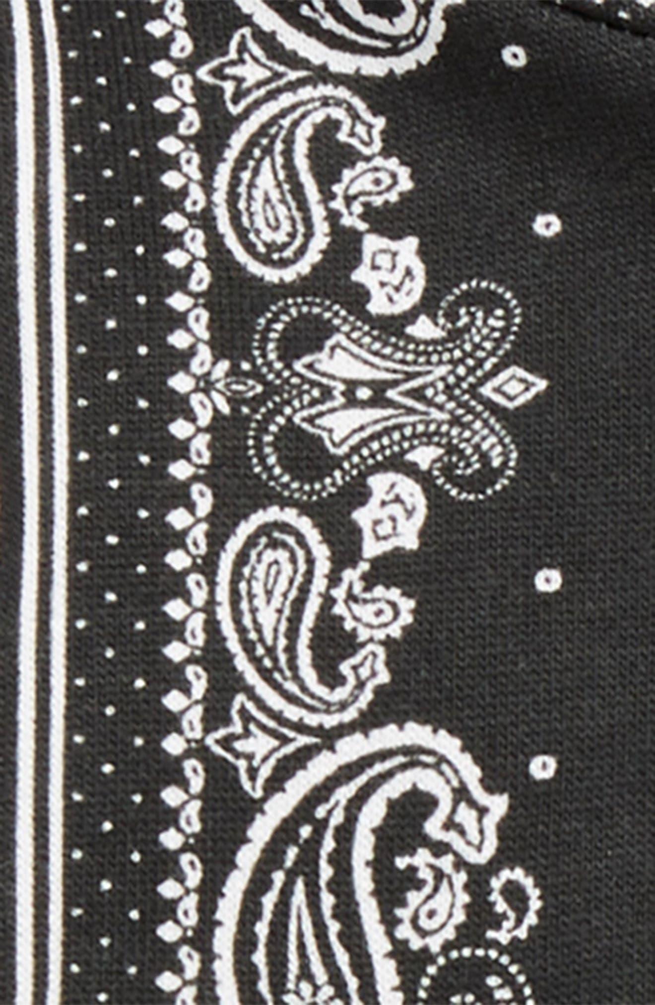 Bandana Hoodie & Sweatpants Set,                             Alternate thumbnail 2, color,                             BLACK/ WHITE
