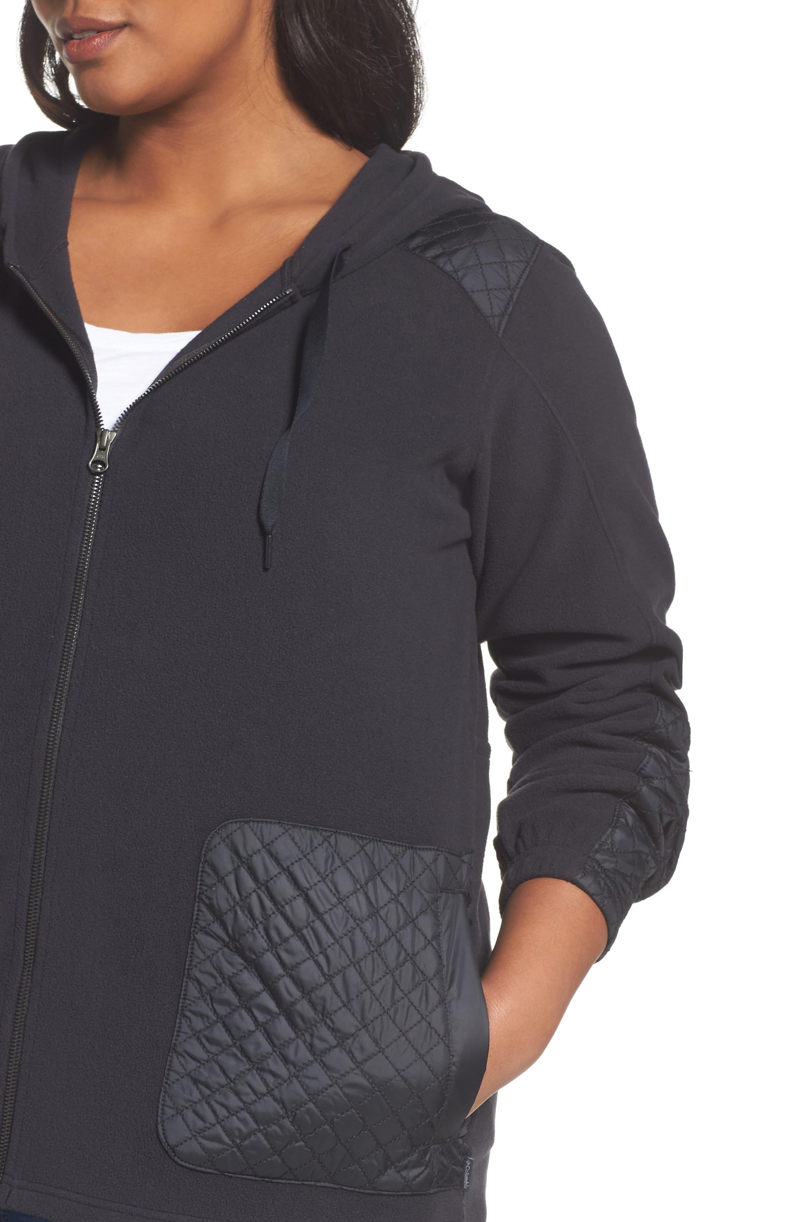 Warm Up Hooded Fleece Jacket,                             Alternate thumbnail 4, color,                             010