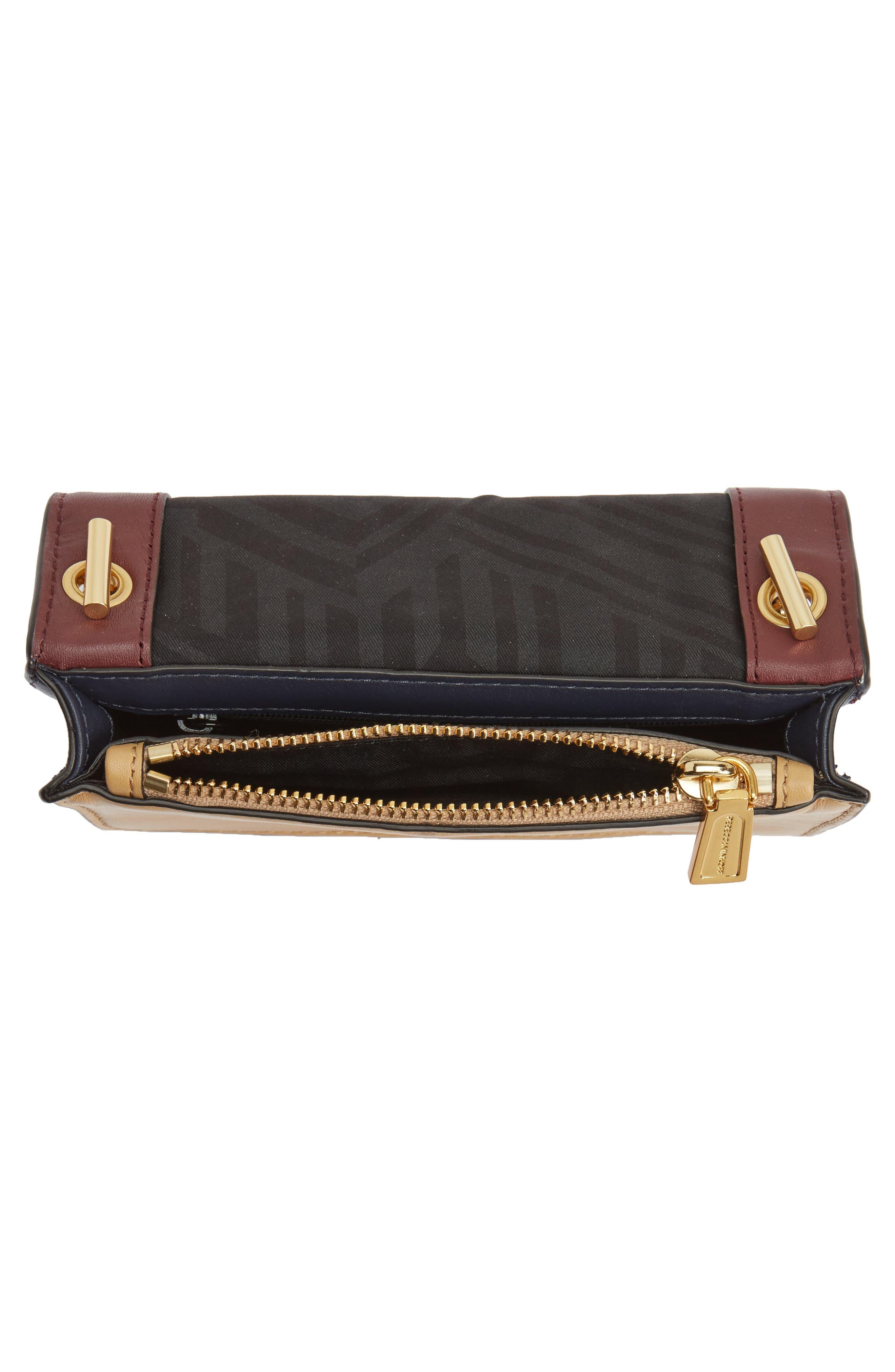 Mini Chain Leather Crossbody Bag,                             Alternate thumbnail 4, color,                             600