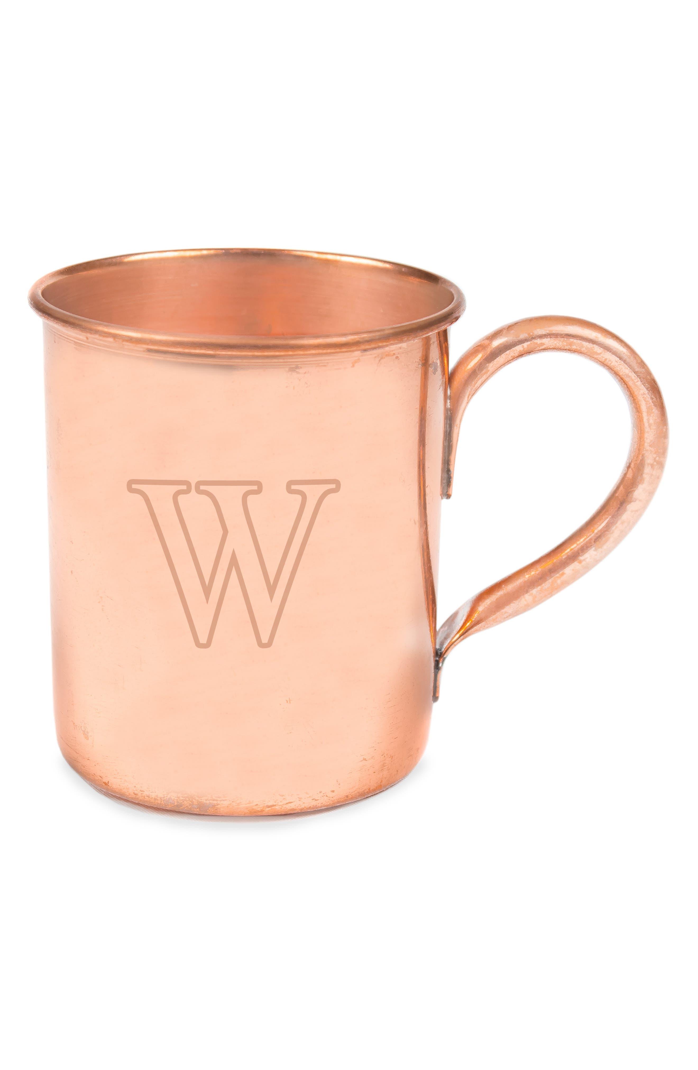 Monogram Moscow Mule Copper Mug,                             Alternate thumbnail 4, color,                             243
