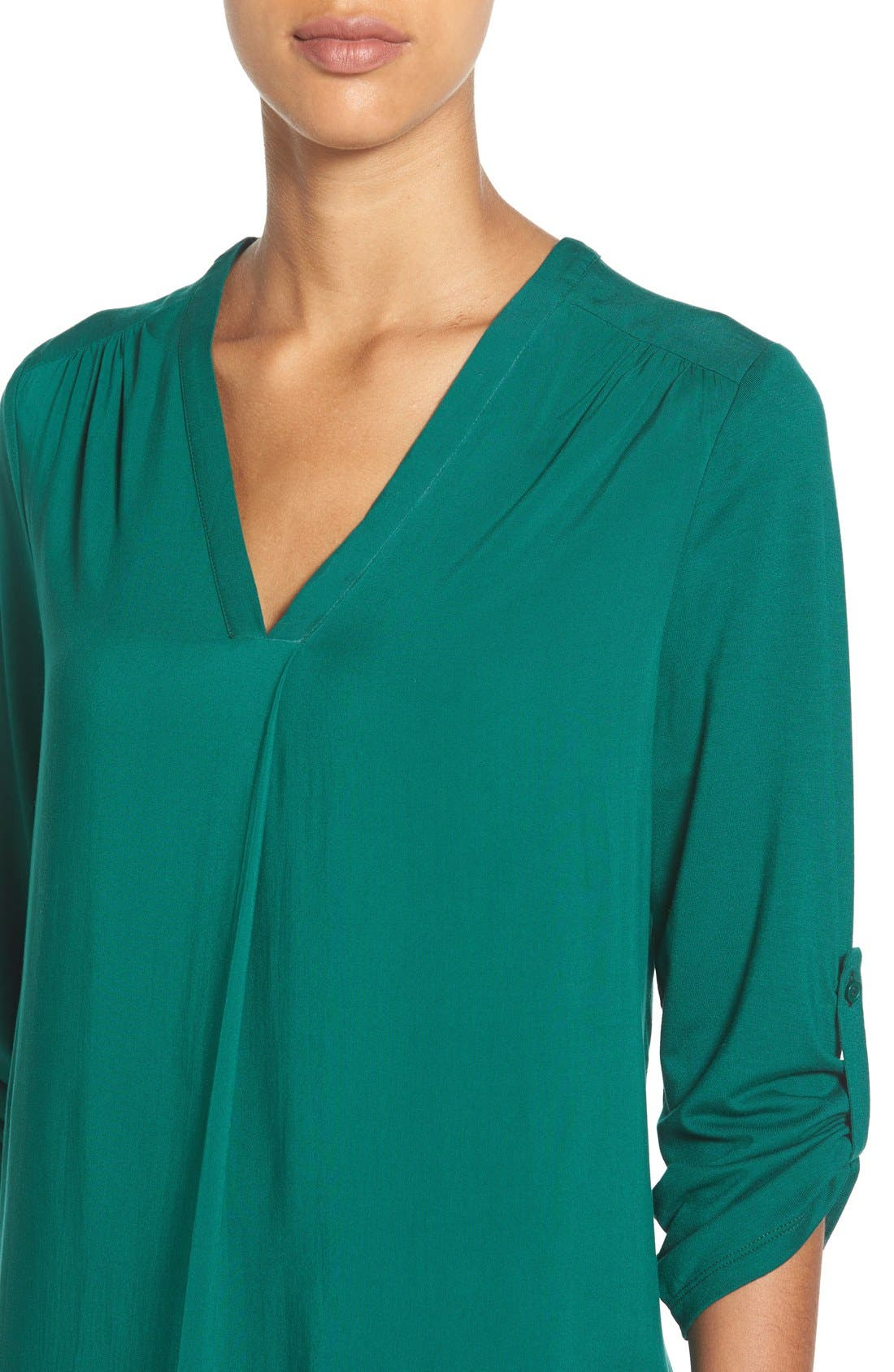 Mixed Media V-Neck Tunic,                             Alternate thumbnail 115, color,