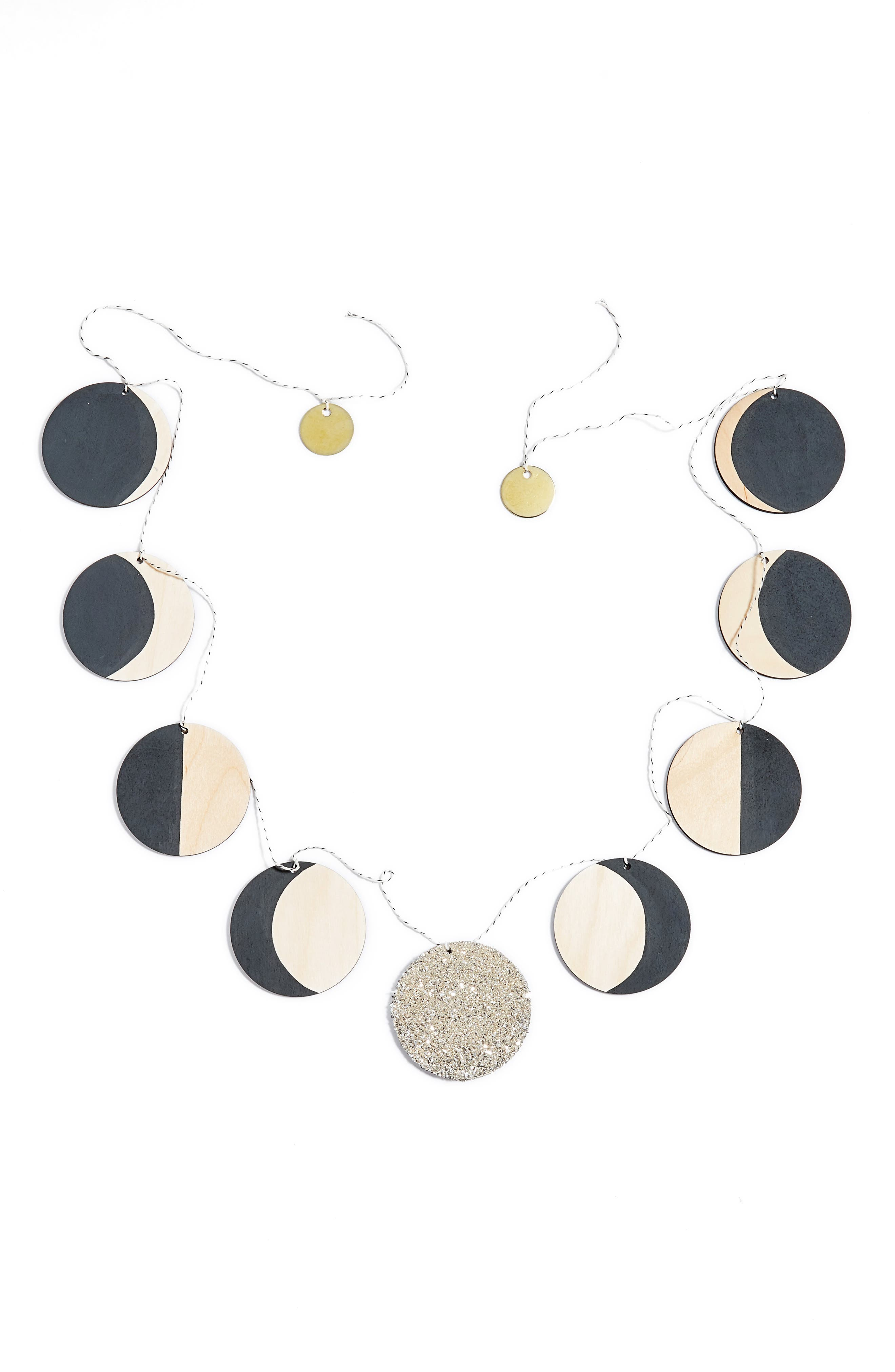 Moon Phase Wooden Garland,                             Alternate thumbnail 2, color,                             020