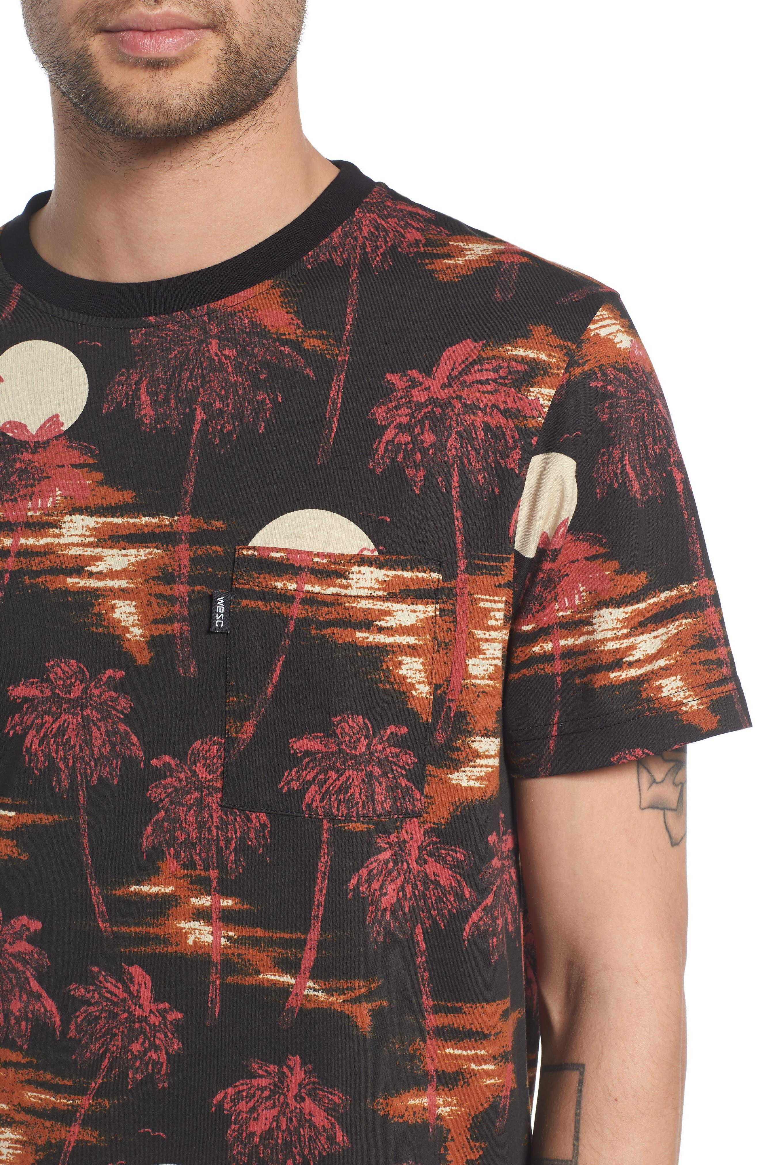Maxwell Hawaii Print Graphic T-Shirt,                             Alternate thumbnail 4, color,                             001