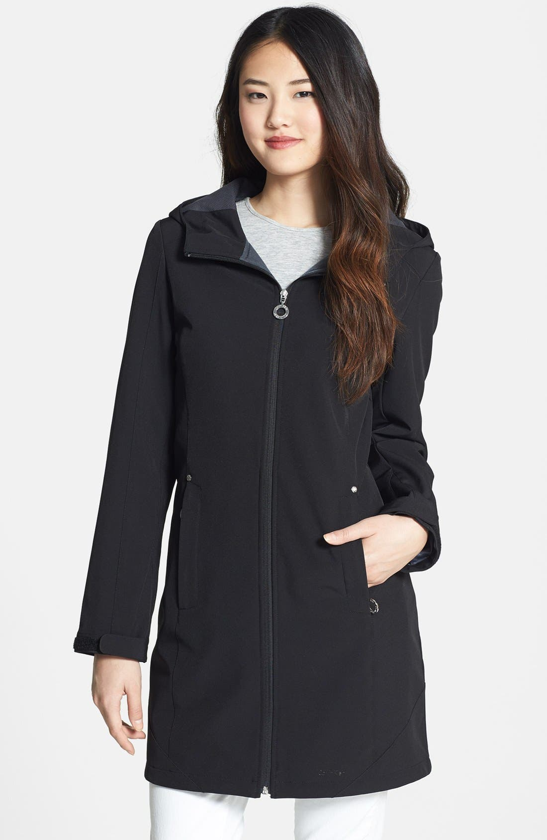 Hooded Soft Shell Jacket, Main, color, 003