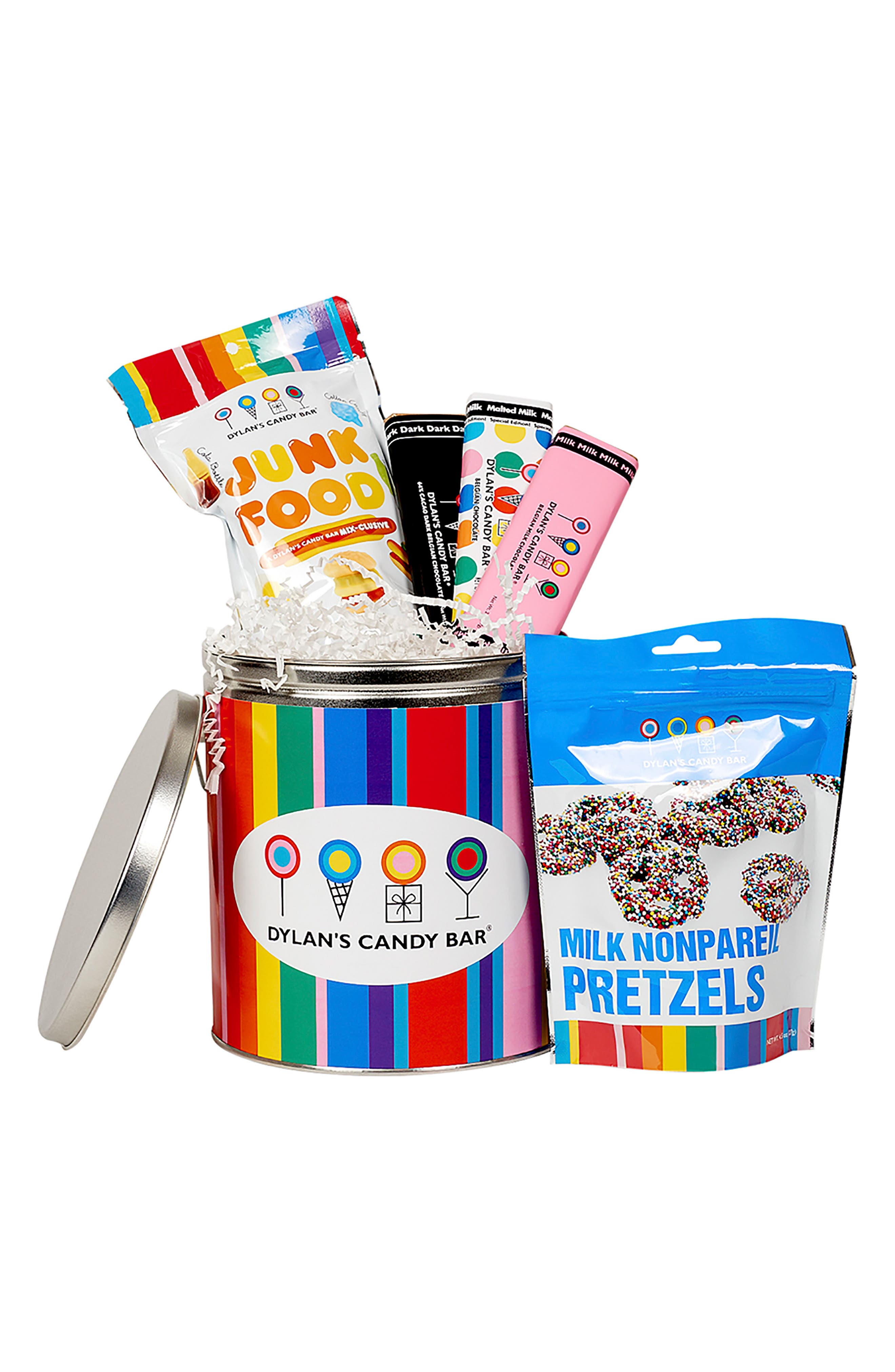 Mini Party In A Bucket Candy Assortment,                             Main thumbnail 1, color,                             BLUE MULTI