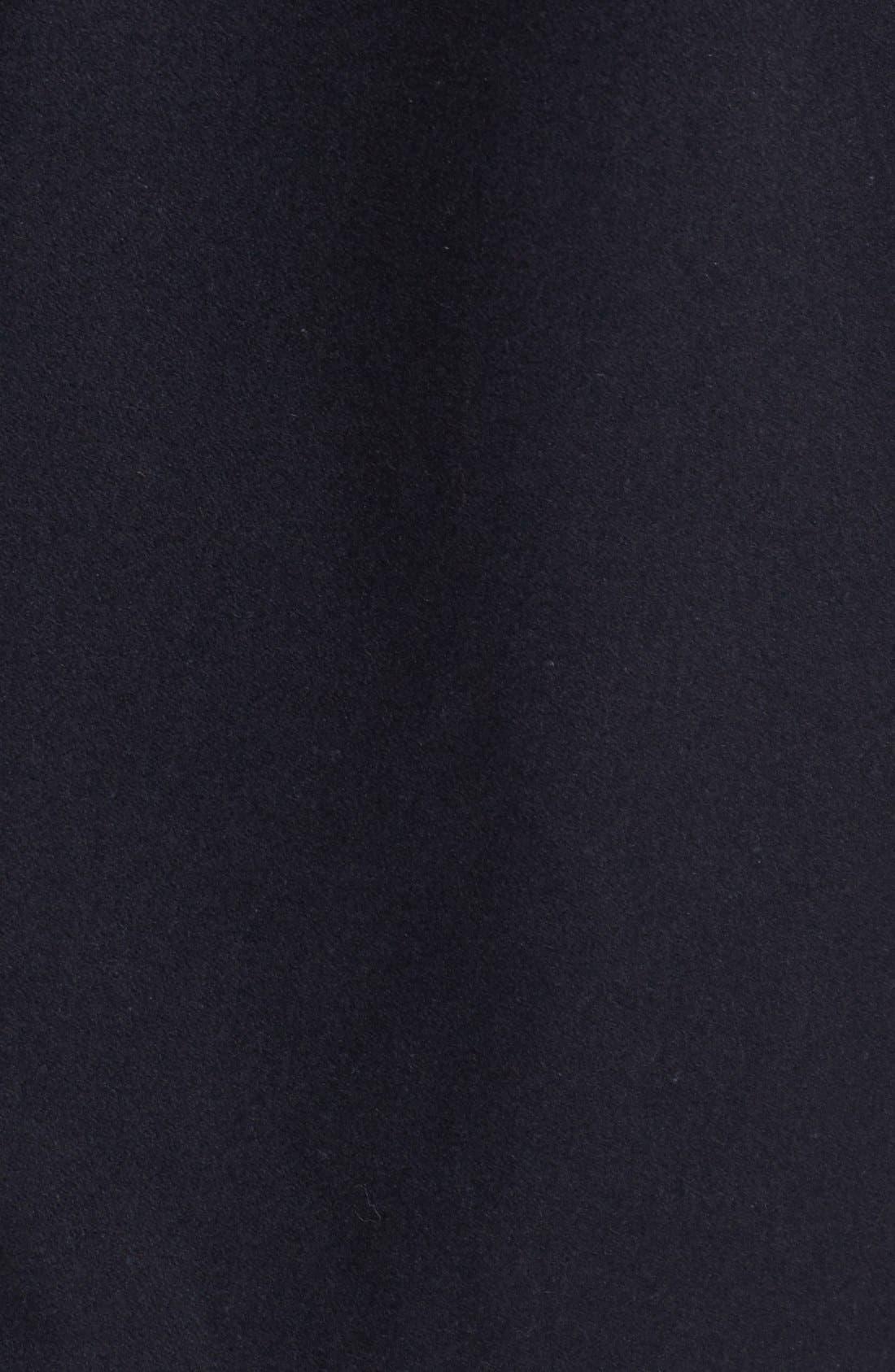 Faux Leather Trim Asymmetrical Jacket,                             Alternate thumbnail 3, color,                             001