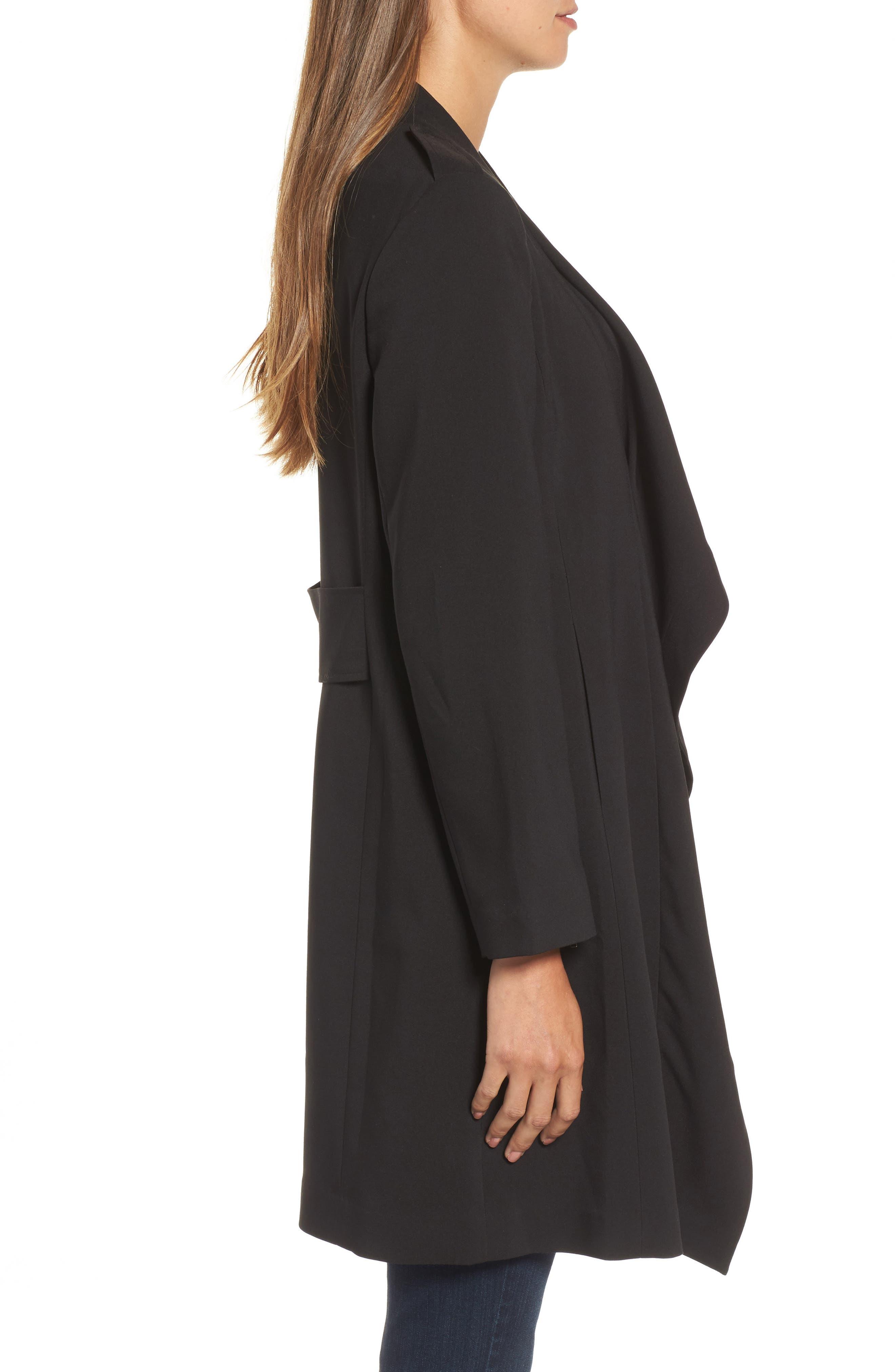 Drape Jacket,                             Alternate thumbnail 3, color,                             BLACK