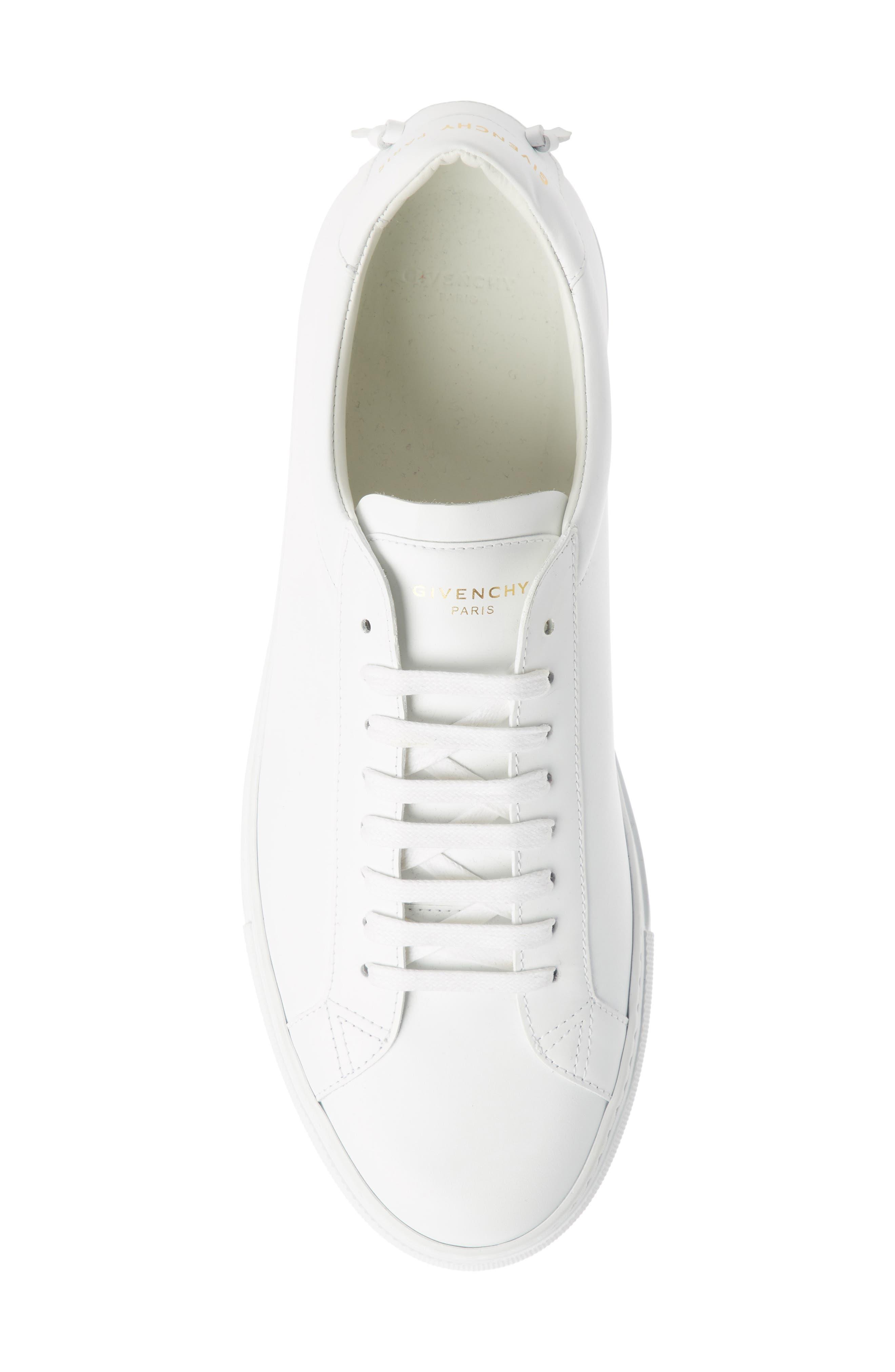 'Urban Knots Lo' Sneaker,                             Alternate thumbnail 4, color,                             WHITE/ WHITE
