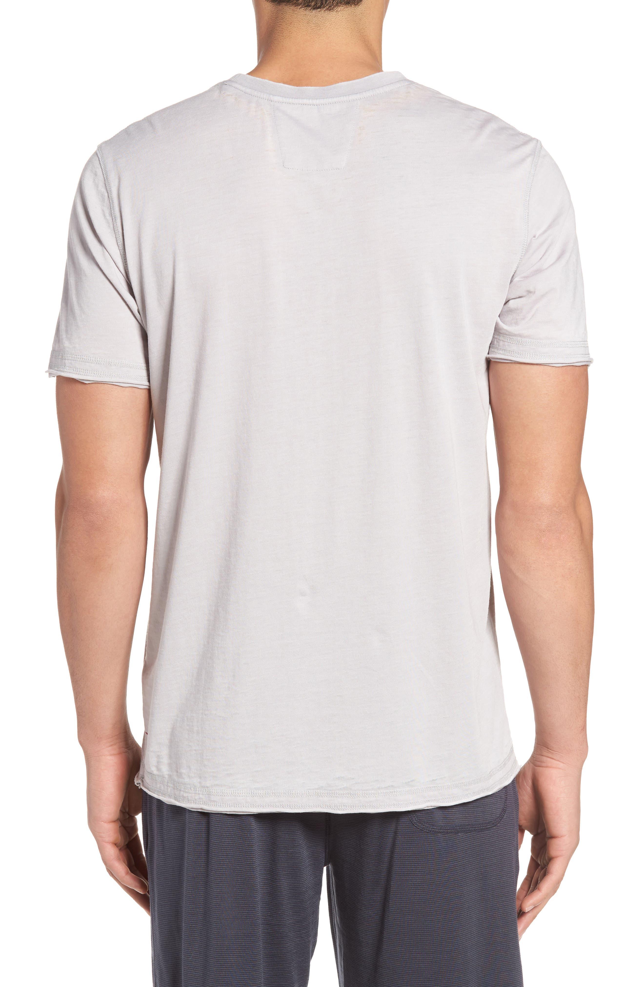 Burnout Cotton Blend Crewneck T-Shirt,                             Alternate thumbnail 2, color,                             055