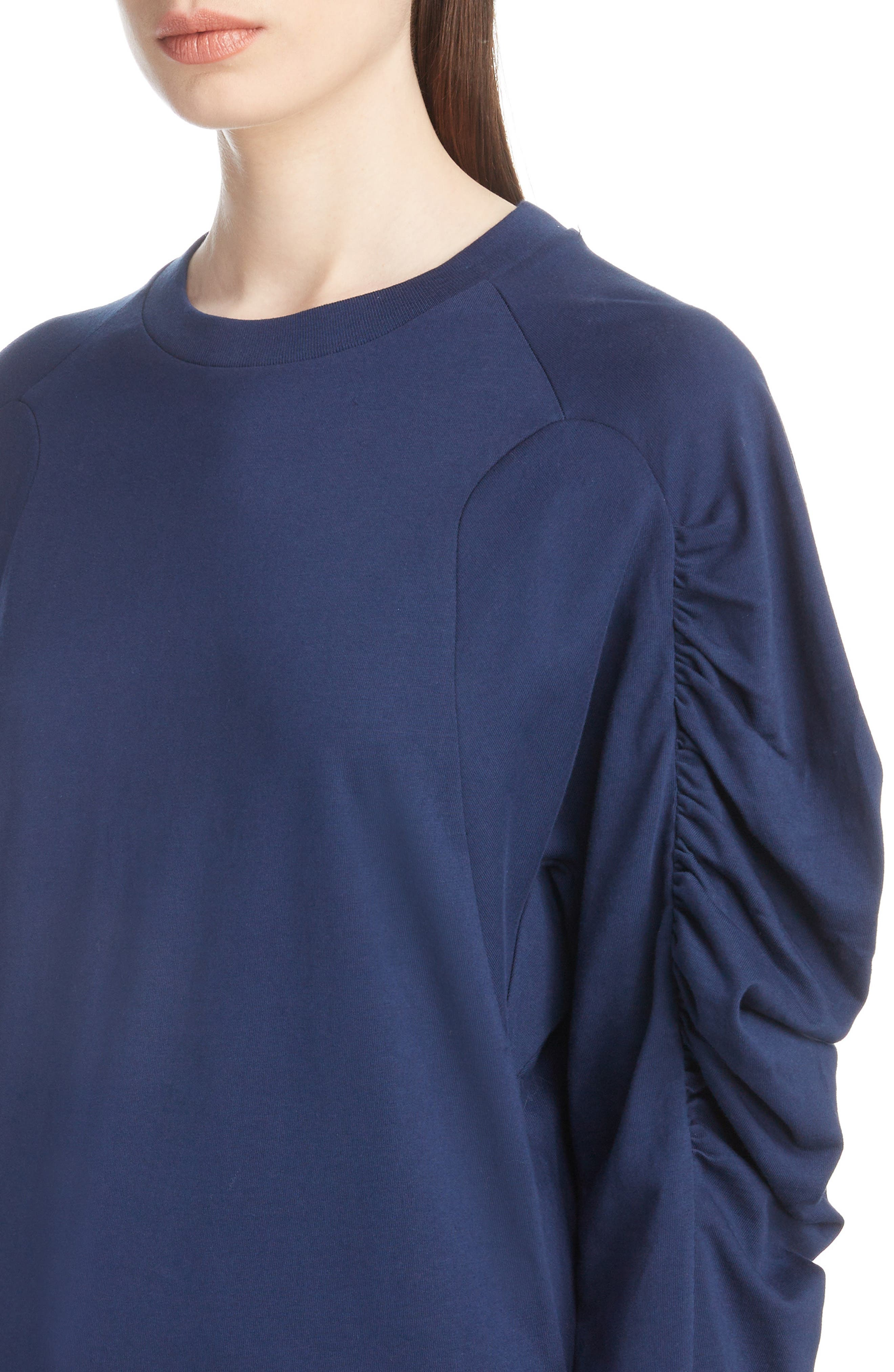 Jersey Ruched Sleeve Top,                             Alternate thumbnail 4, color,                             450