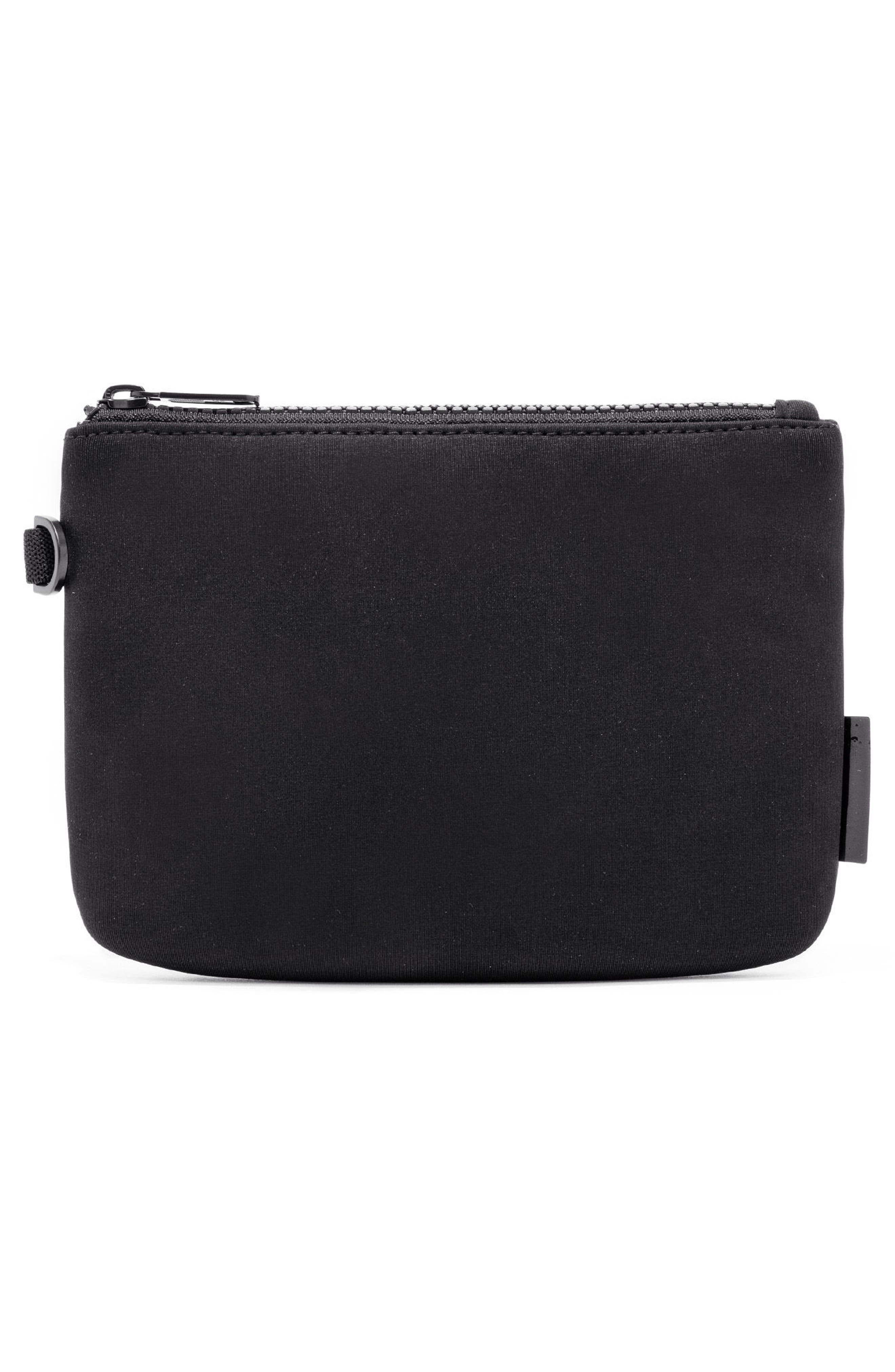 Scout Small Zip Top Pouch,                             Alternate thumbnail 3, color,                             ONYX