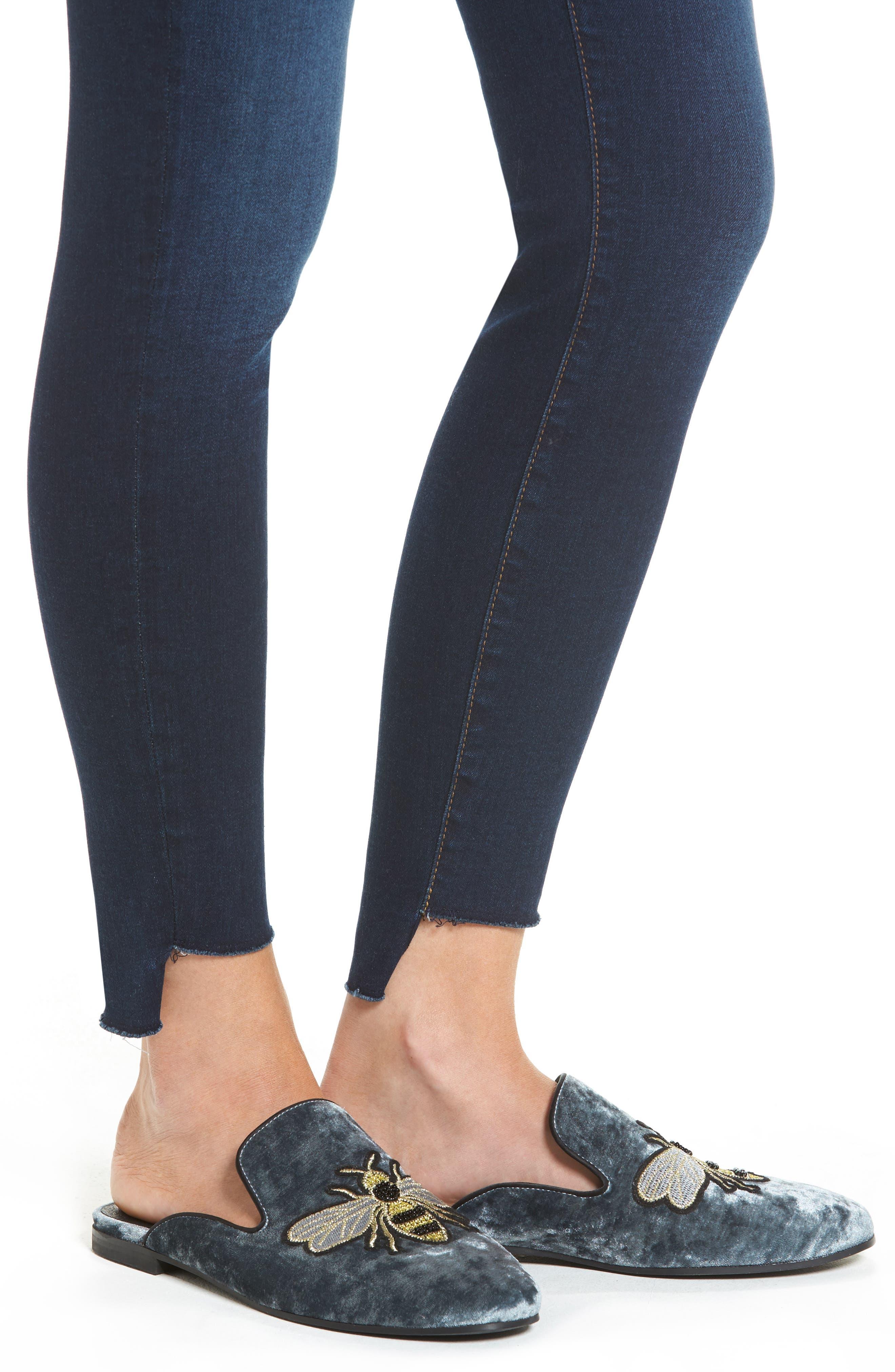 Connie Step Hem Ankle Jeans,                             Alternate thumbnail 4, color,                             410
