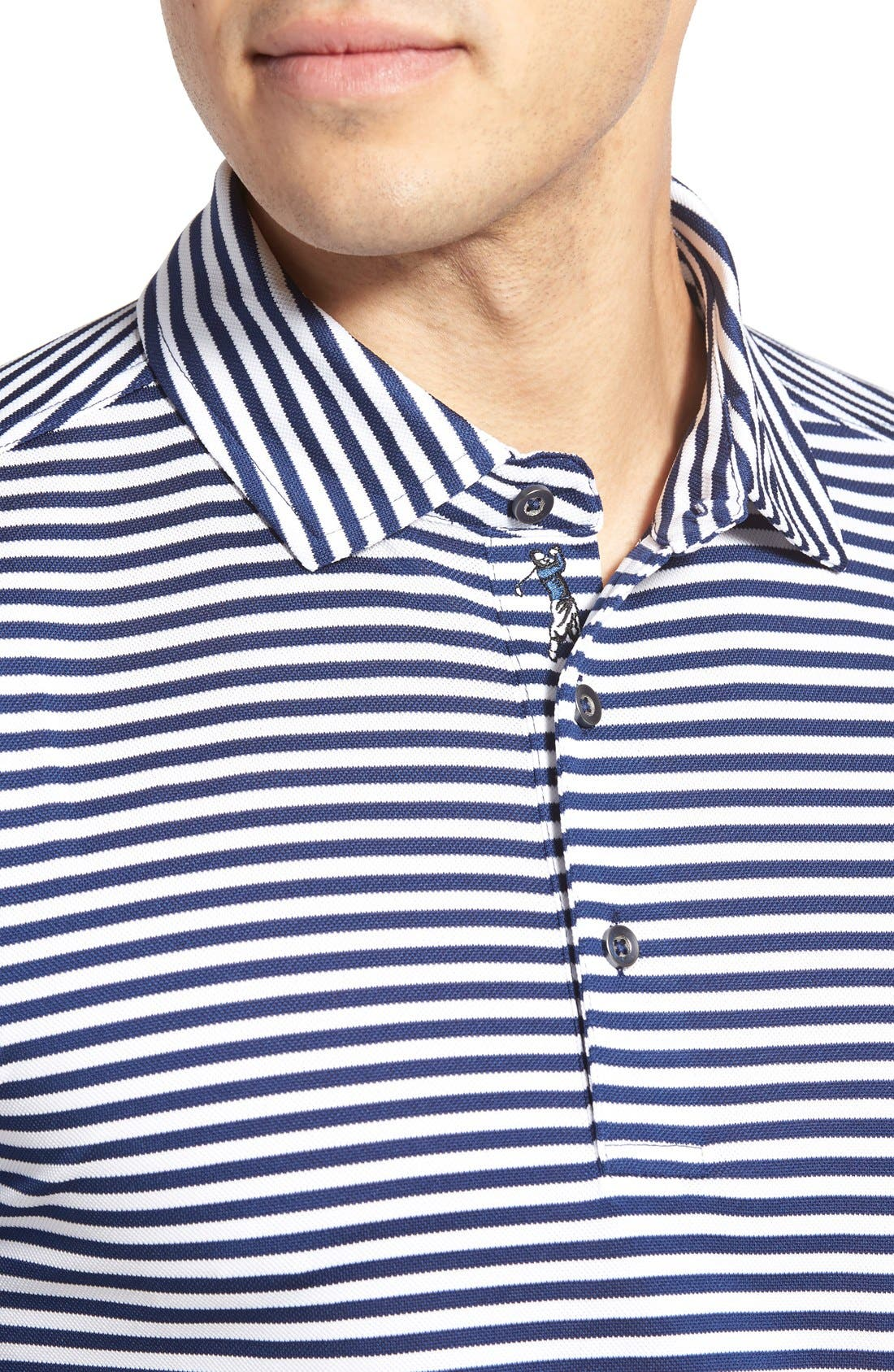 XH2O Feed Stripe Stretch Golf Polo,                             Alternate thumbnail 68, color,