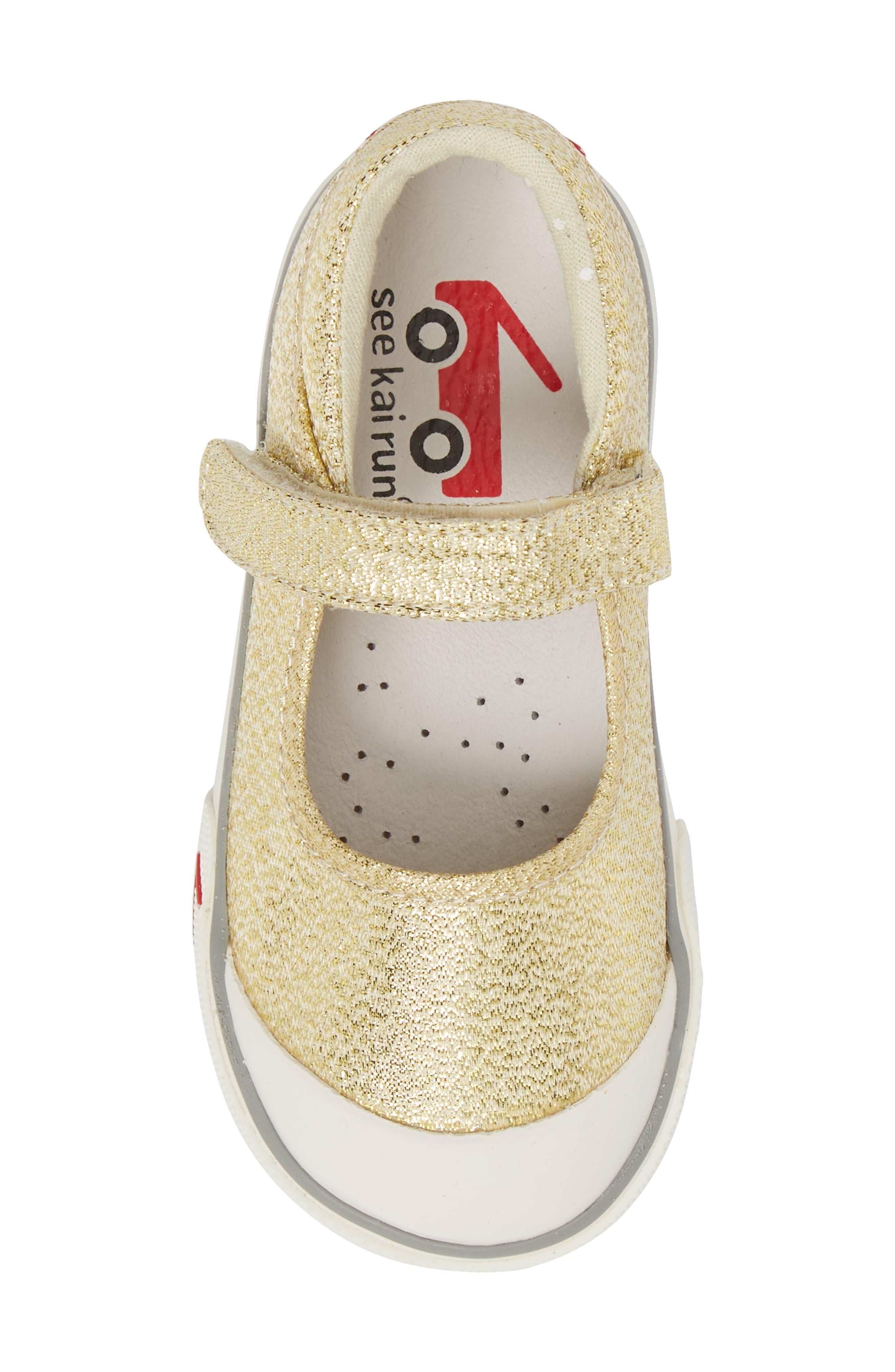 'Marie' Mary Jane Sneaker,                             Alternate thumbnail 5, color,                             METALLIC GOLD