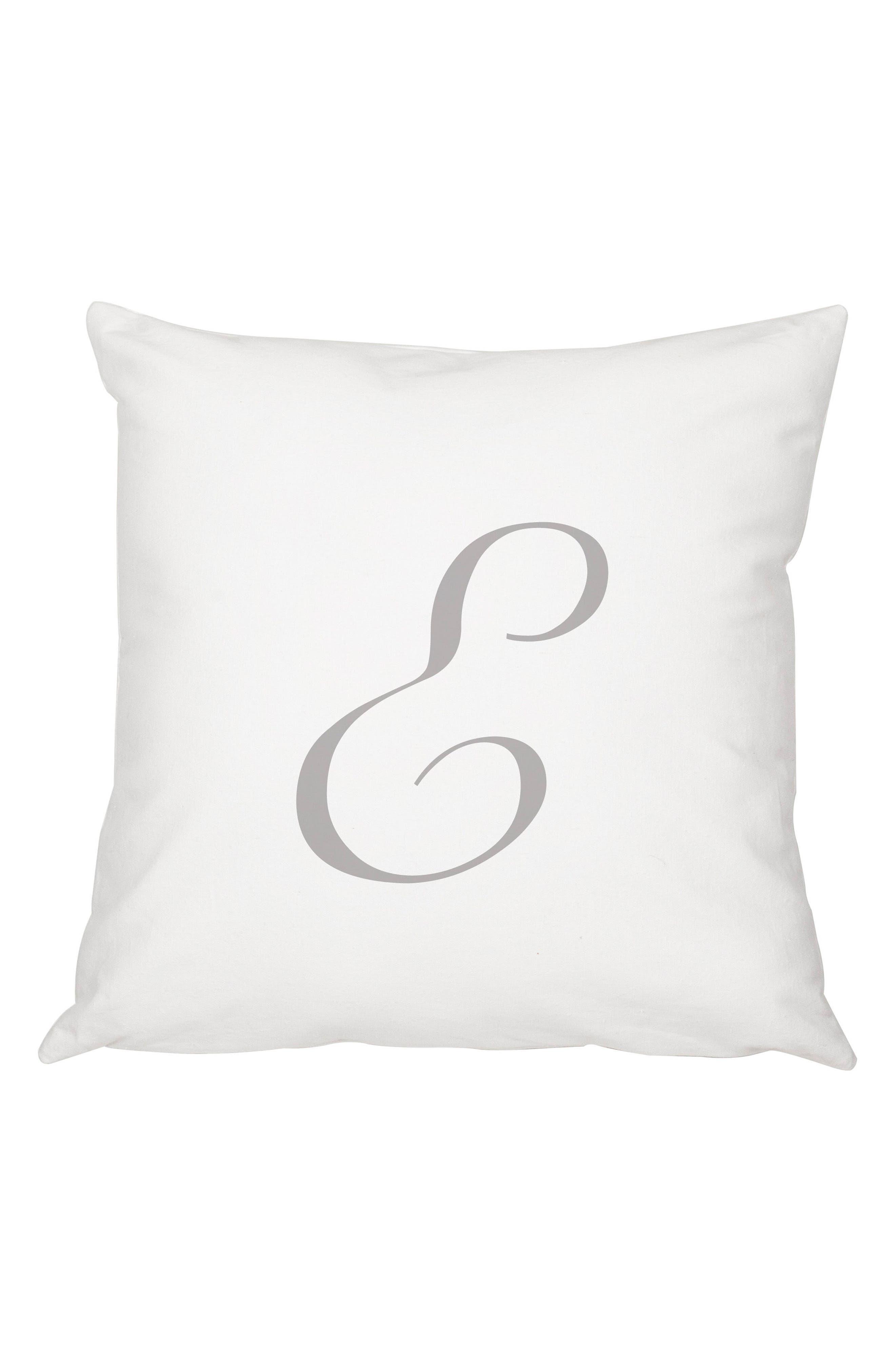 Script Monogram Accent Pillow,                             Main thumbnail 5, color,
