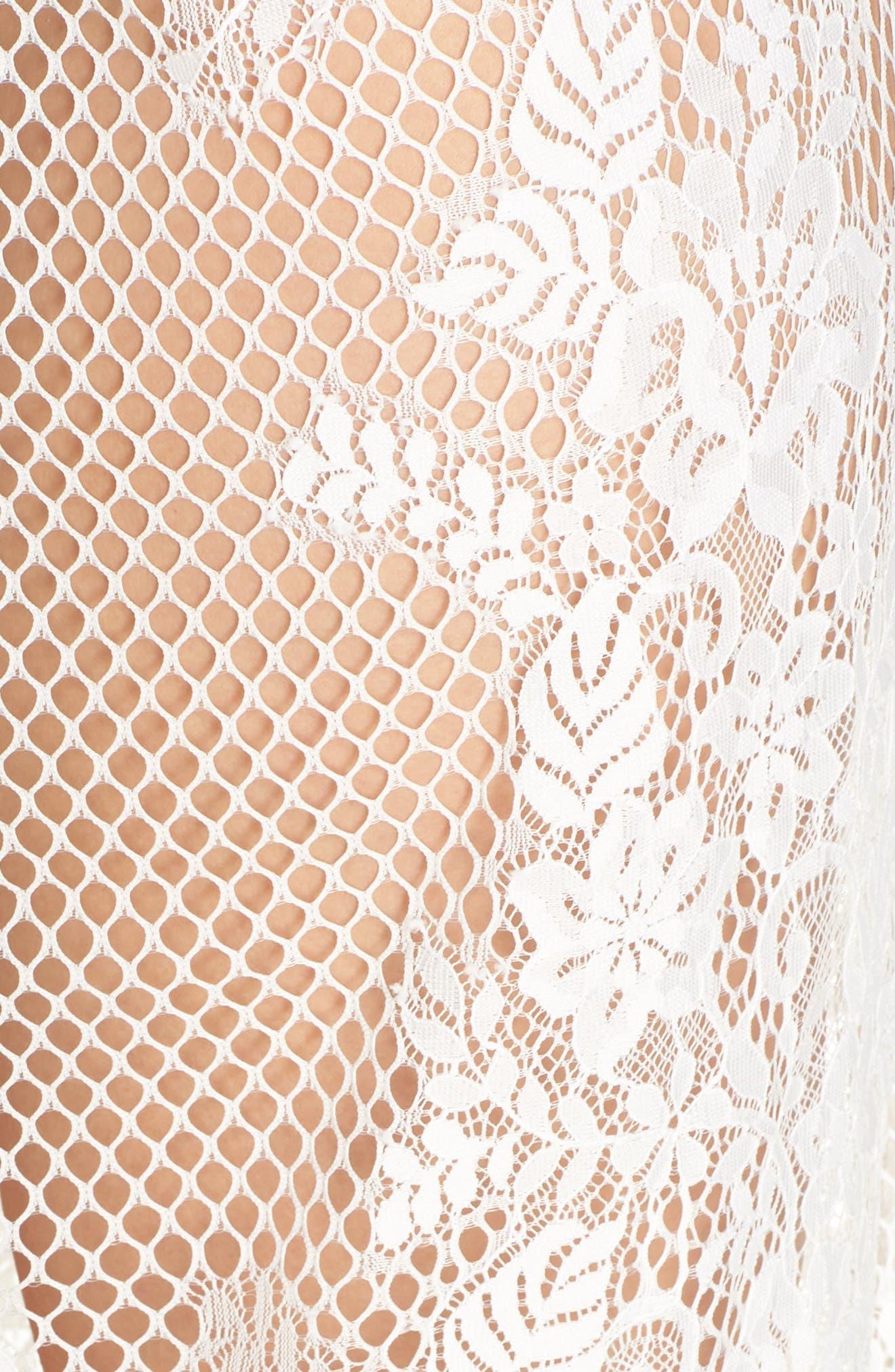 Leah Lace Wrap,                             Alternate thumbnail 5, color,                             WHITE