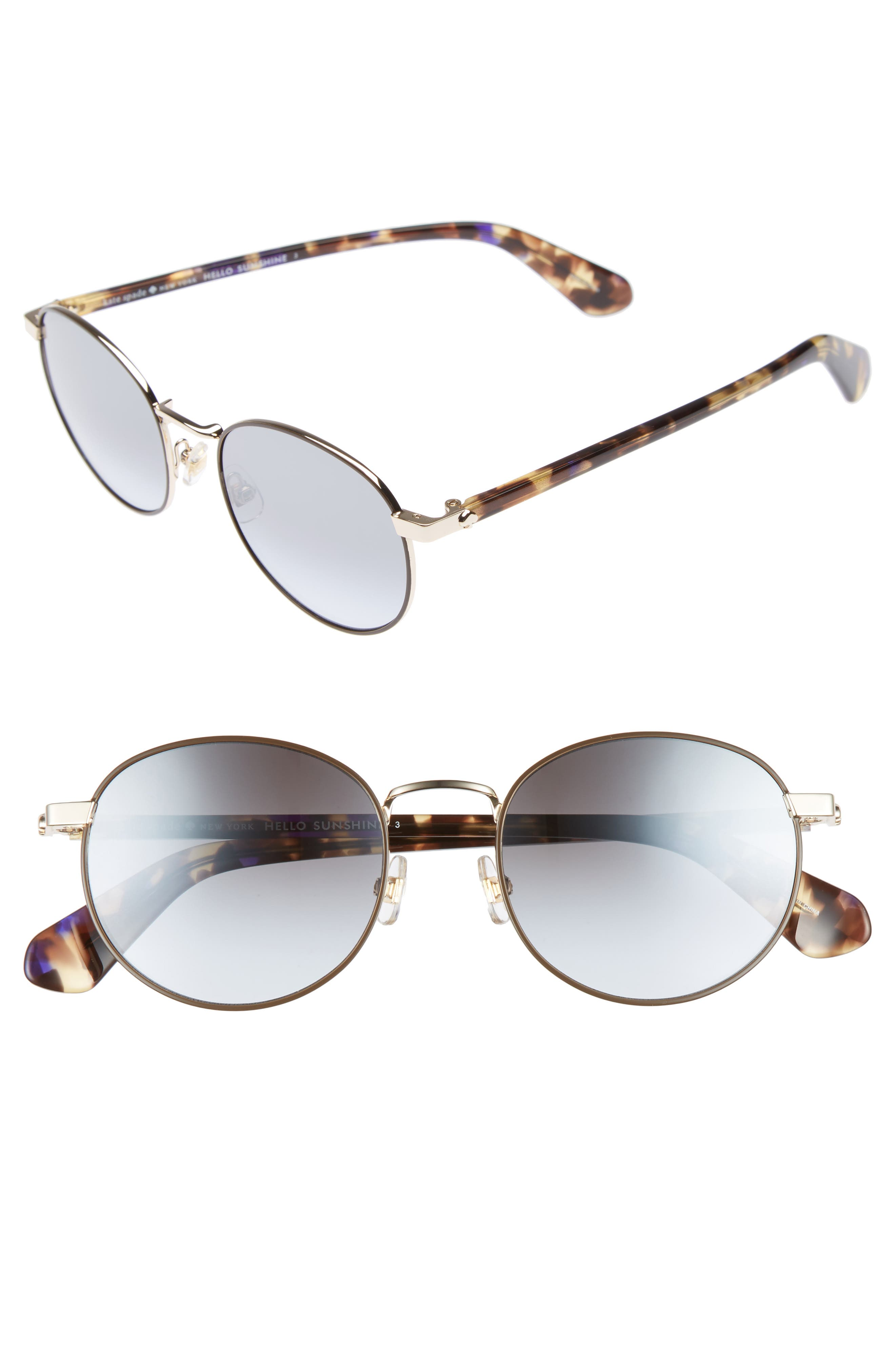 adelais 50mm round sunglasses,                             Main thumbnail 2, color,