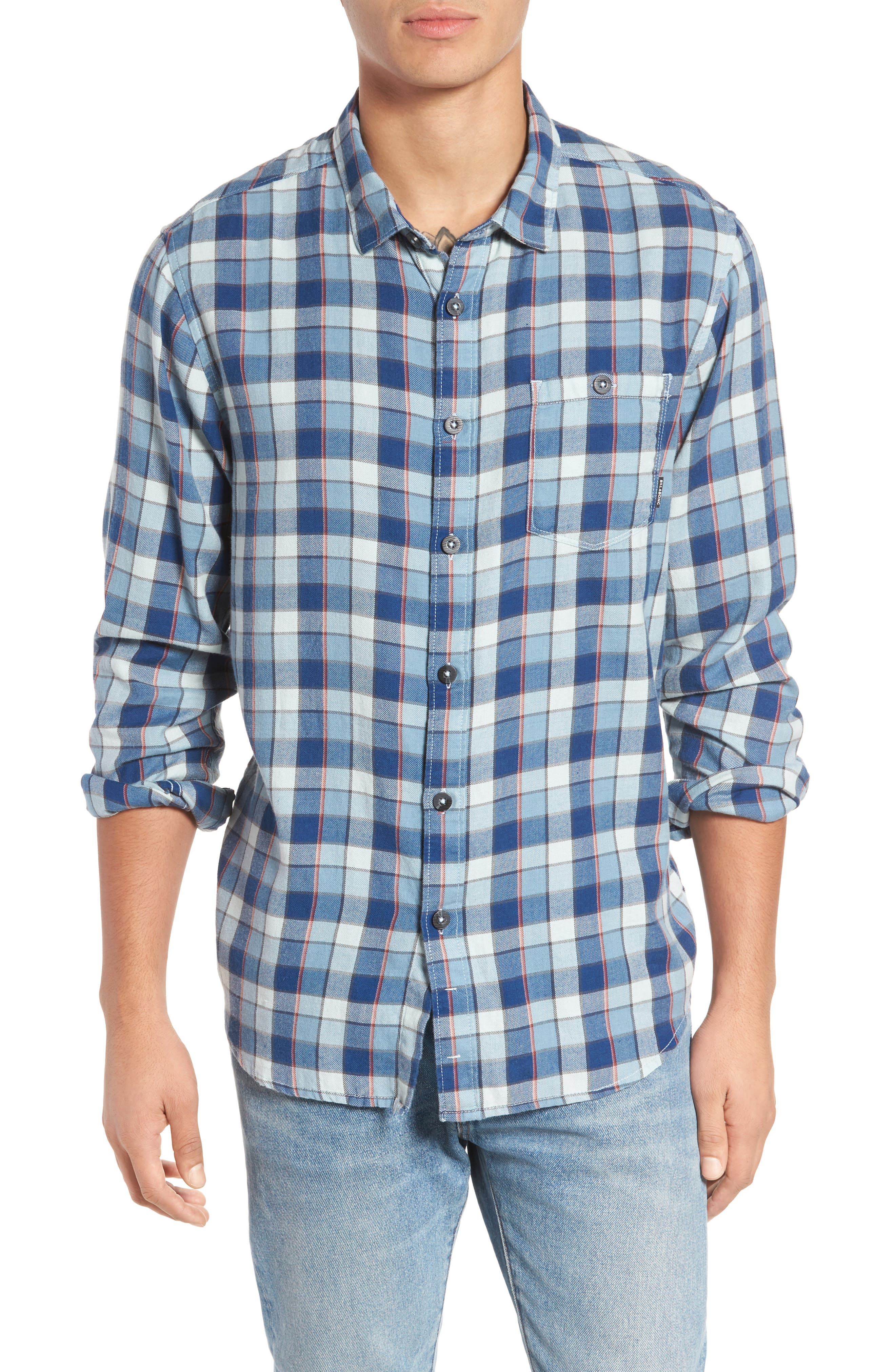 Bilabong Freemont Flannel Shirt,                         Main,                         color, 428