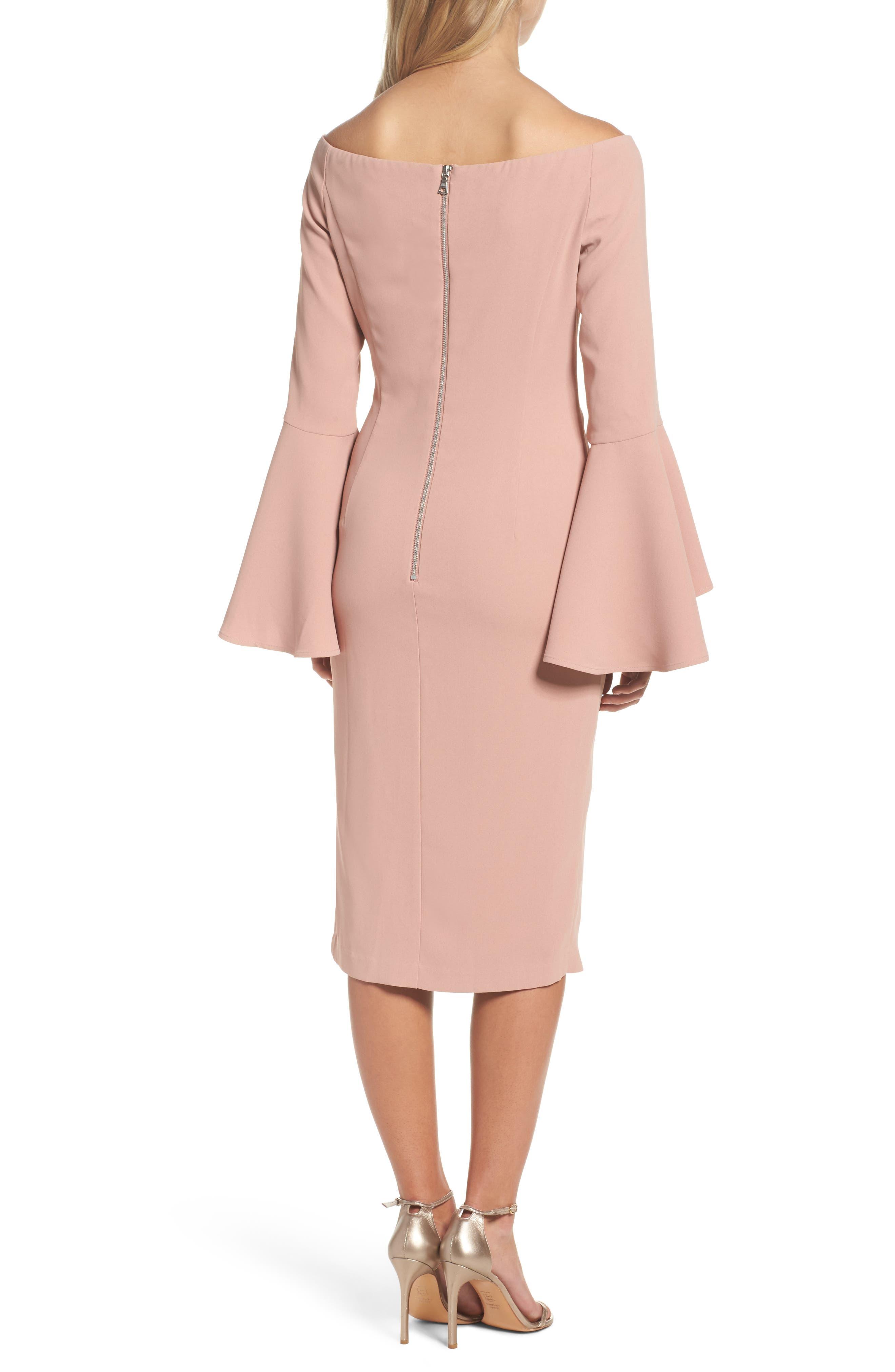 'Solange' Off the Shoulder Midi Dress,                             Alternate thumbnail 9, color,