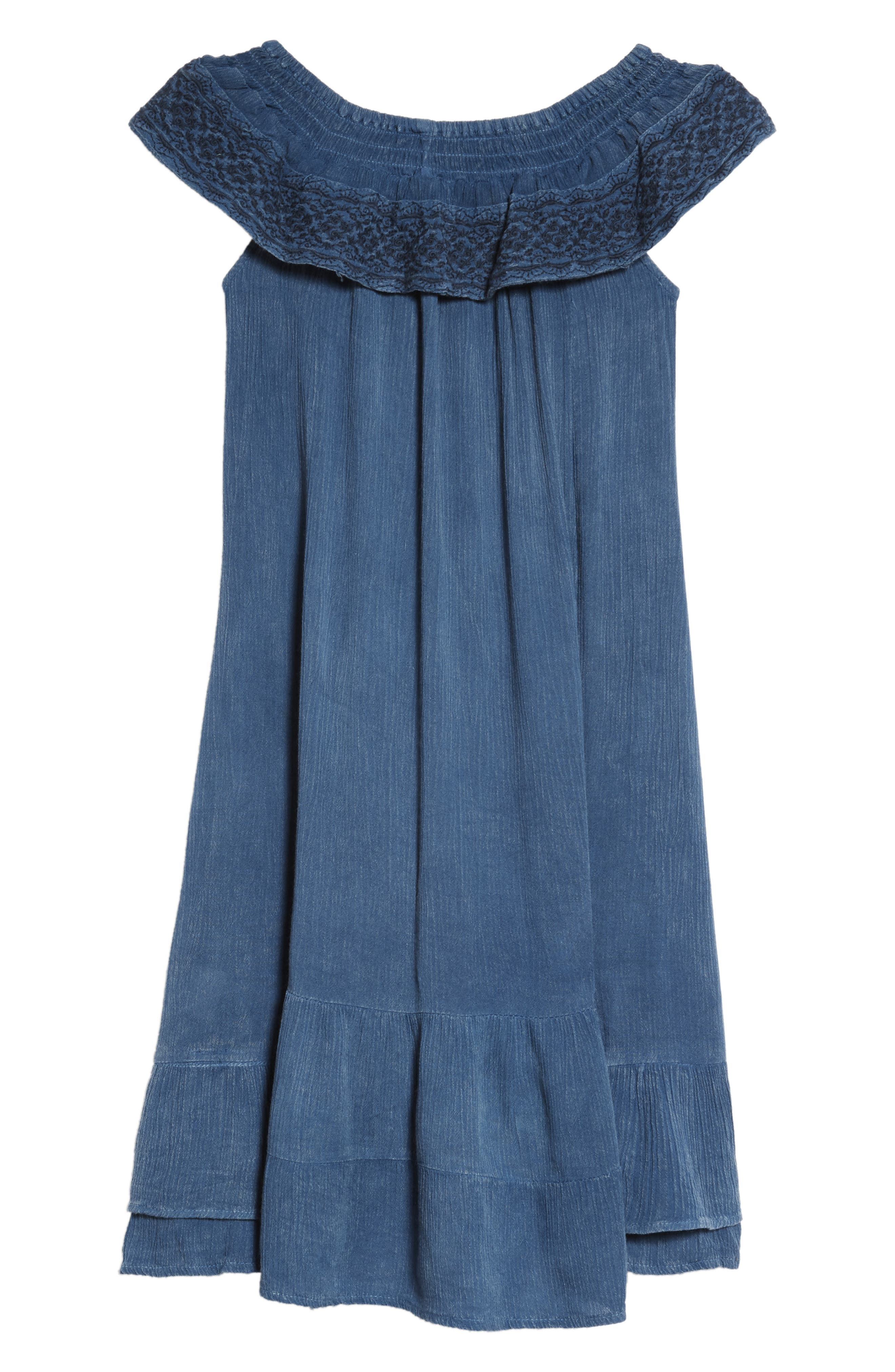 Gavin Embroidered Ruffle Cover-Up Dress,                             Alternate thumbnail 2, color,                             462