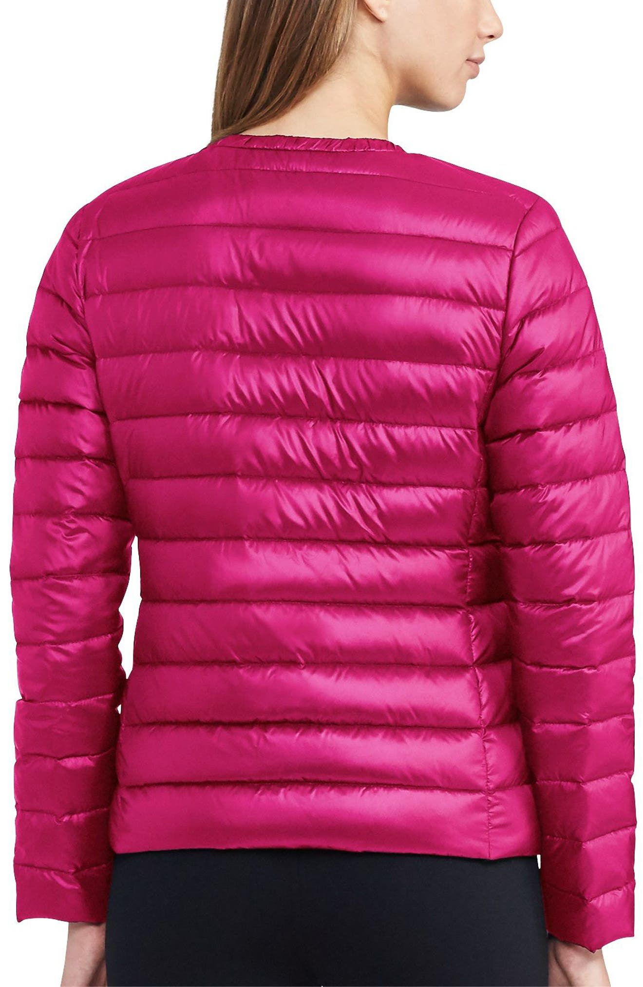Packable Quilted Collarless Down Jacket,                             Alternate thumbnail 6, color,