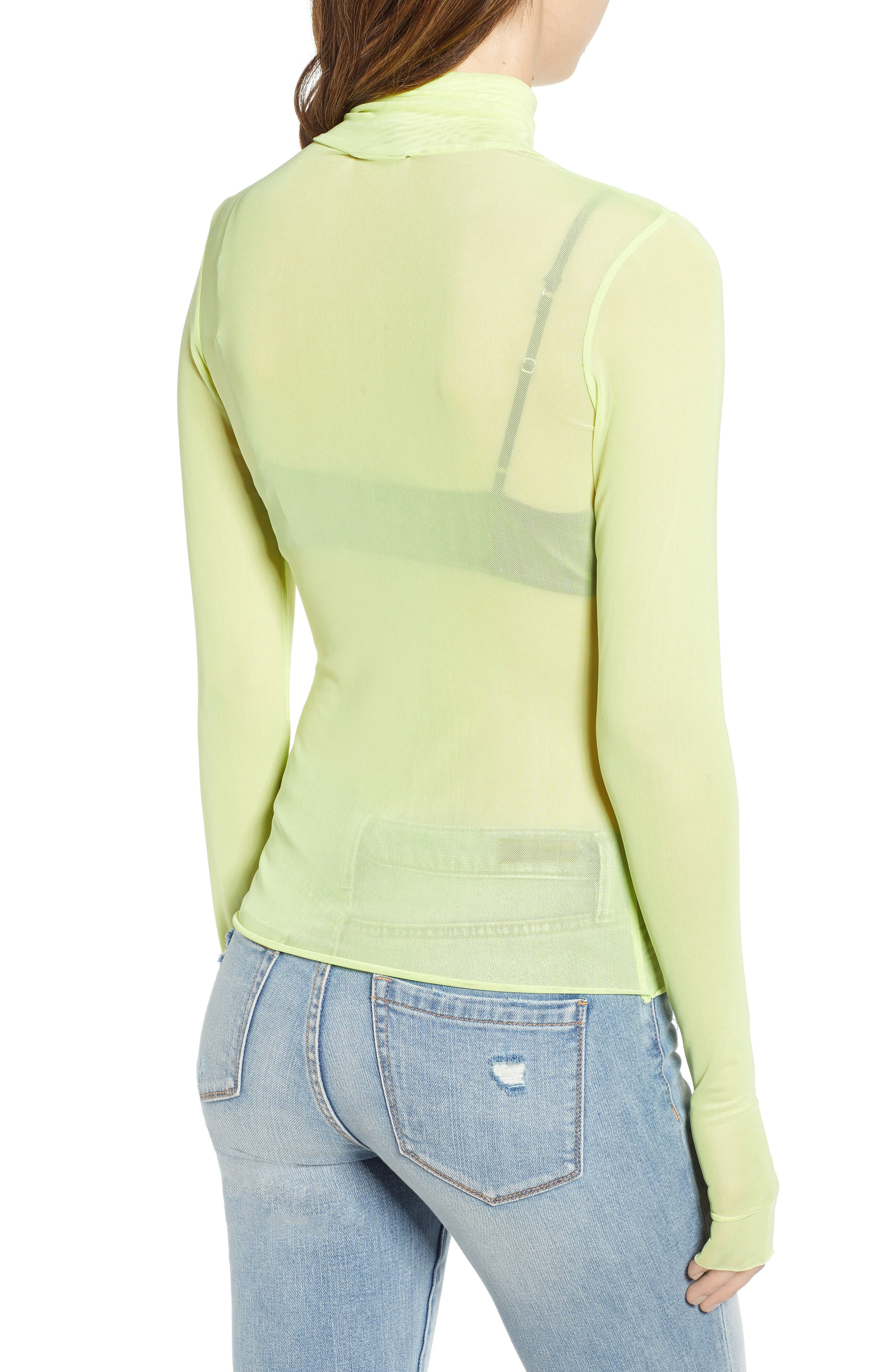 Zadie Semi Sheer Turtleneck,                             Alternate thumbnail 2, color,                             320
