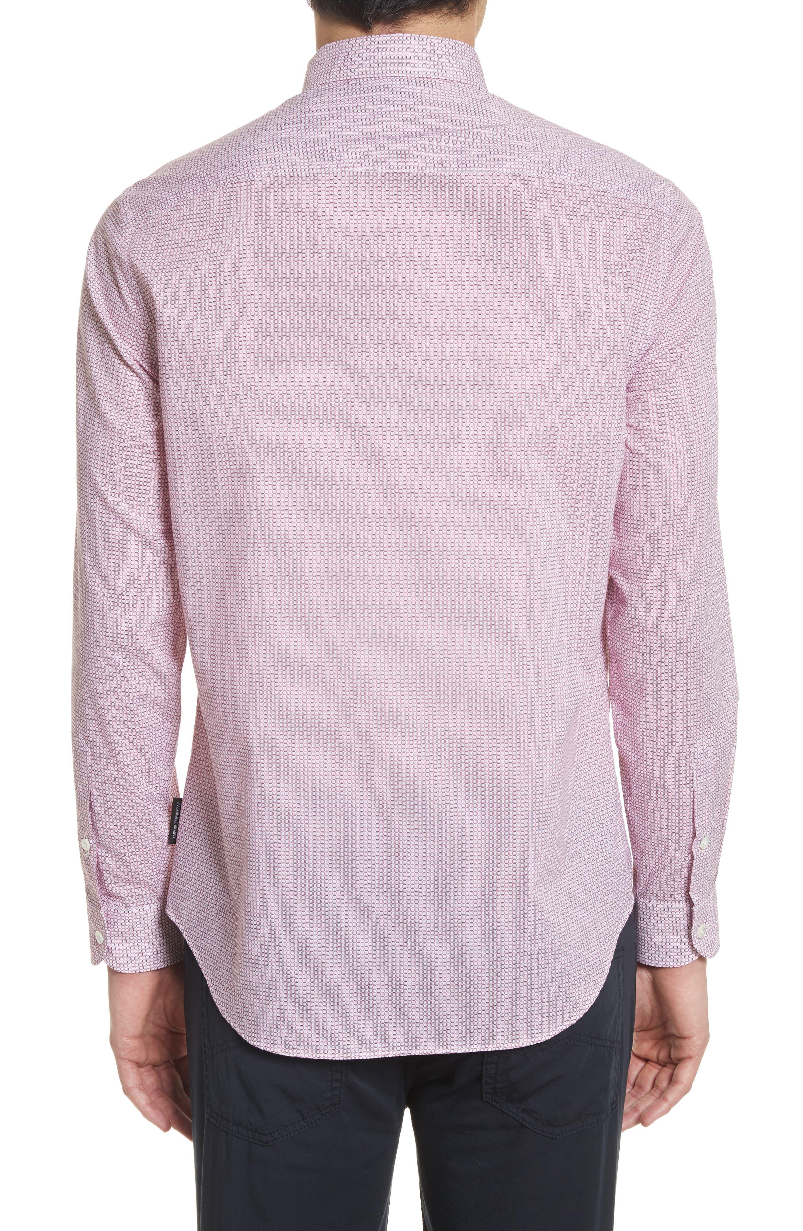 Regular Fit Check Print Sport Shirt,                             Alternate thumbnail 3, color,                             600