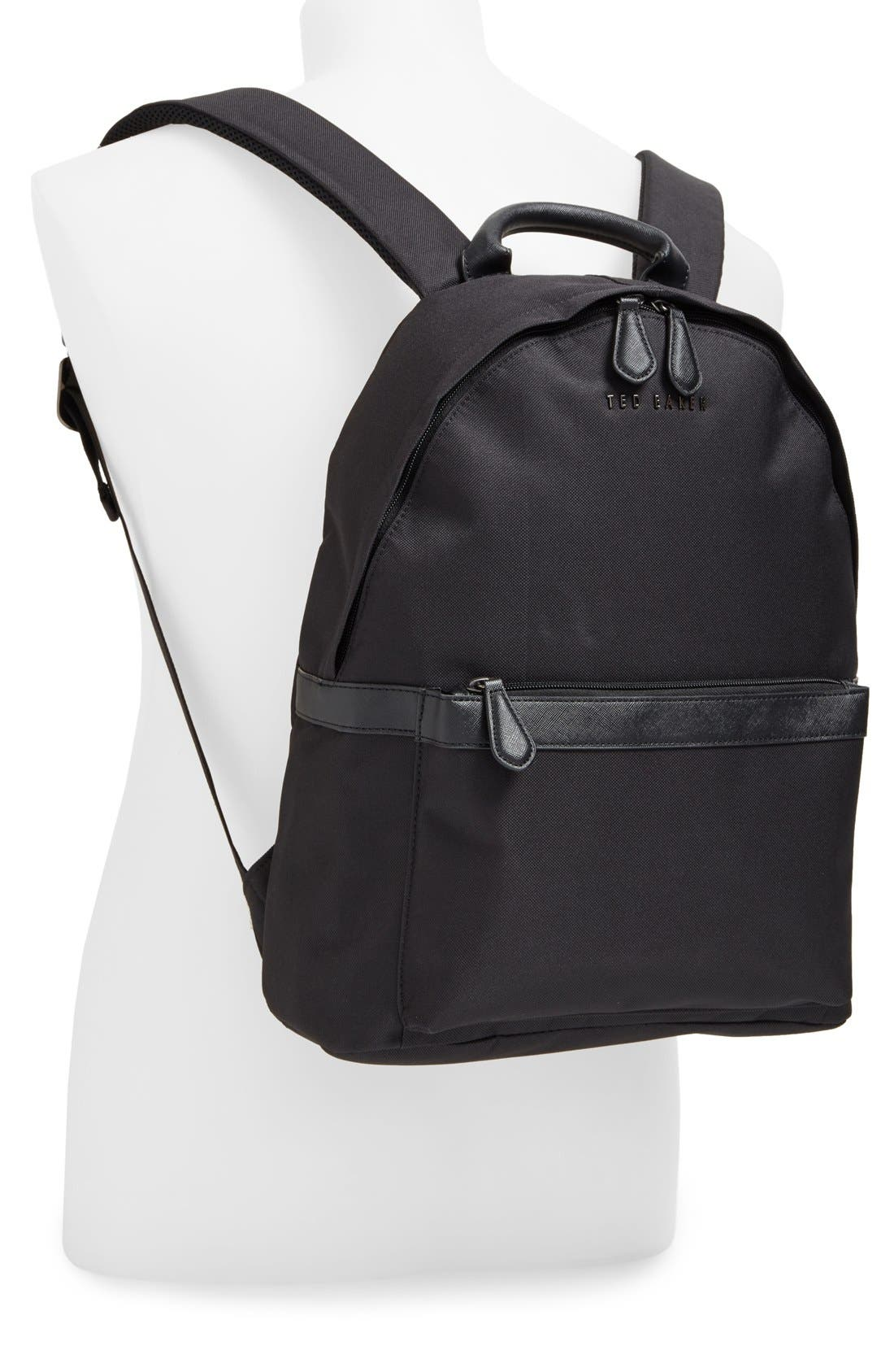 'Seata' Nylon Backpack,                             Alternate thumbnail 4, color,                             001
