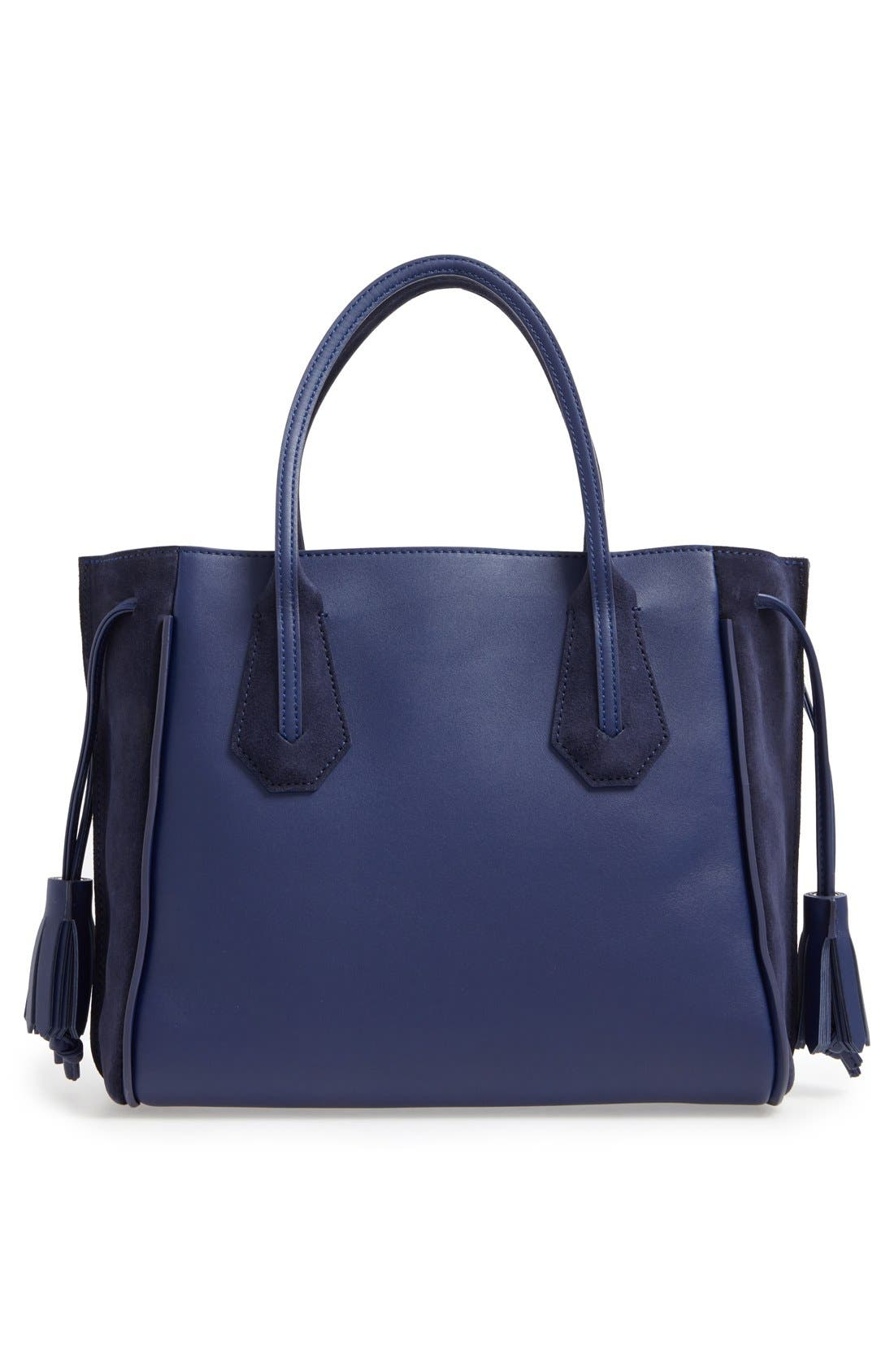 'Small Penelope Fantasie' Leather Tote,                             Alternate thumbnail 9, color,                             400