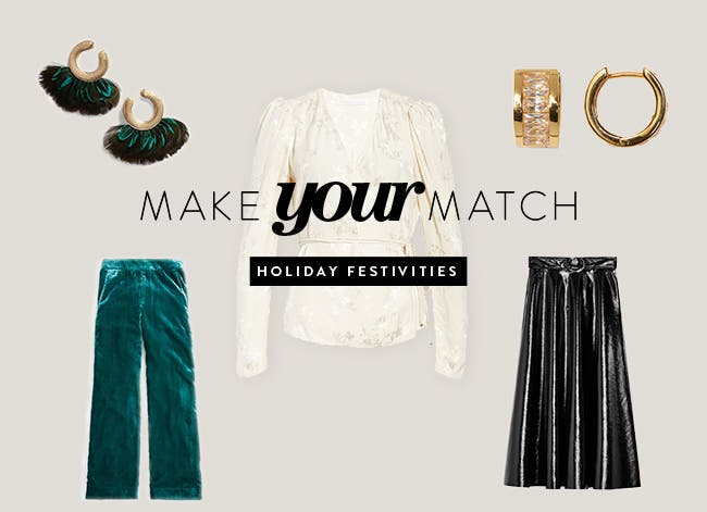 Make your match: holiday-party outfit inspiration.