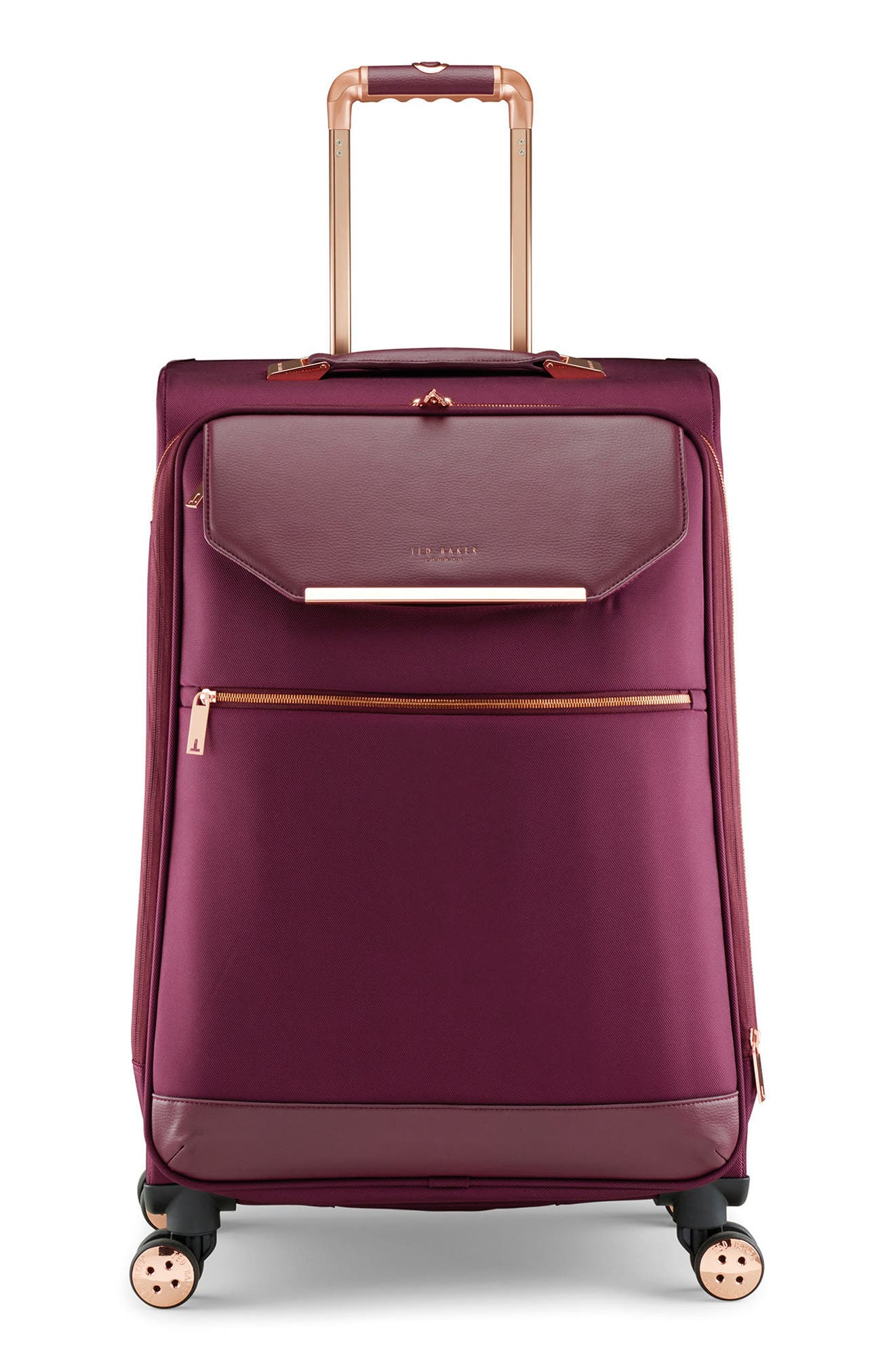 28-Inch Spinner Trolley Packing Case,                         Main,                         color, BURGUNDY