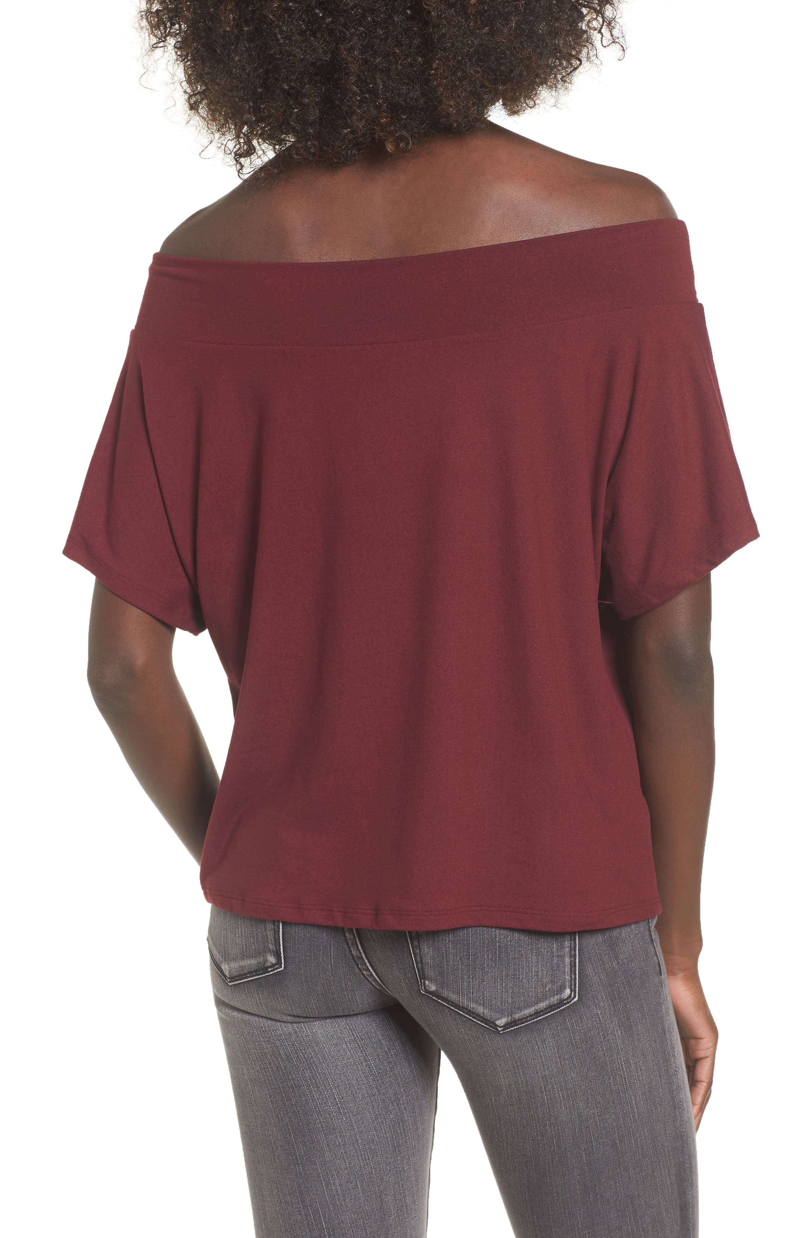 Dolman Sleeve Off the Shoulder Tee,                             Alternate thumbnail 2, color,                             930