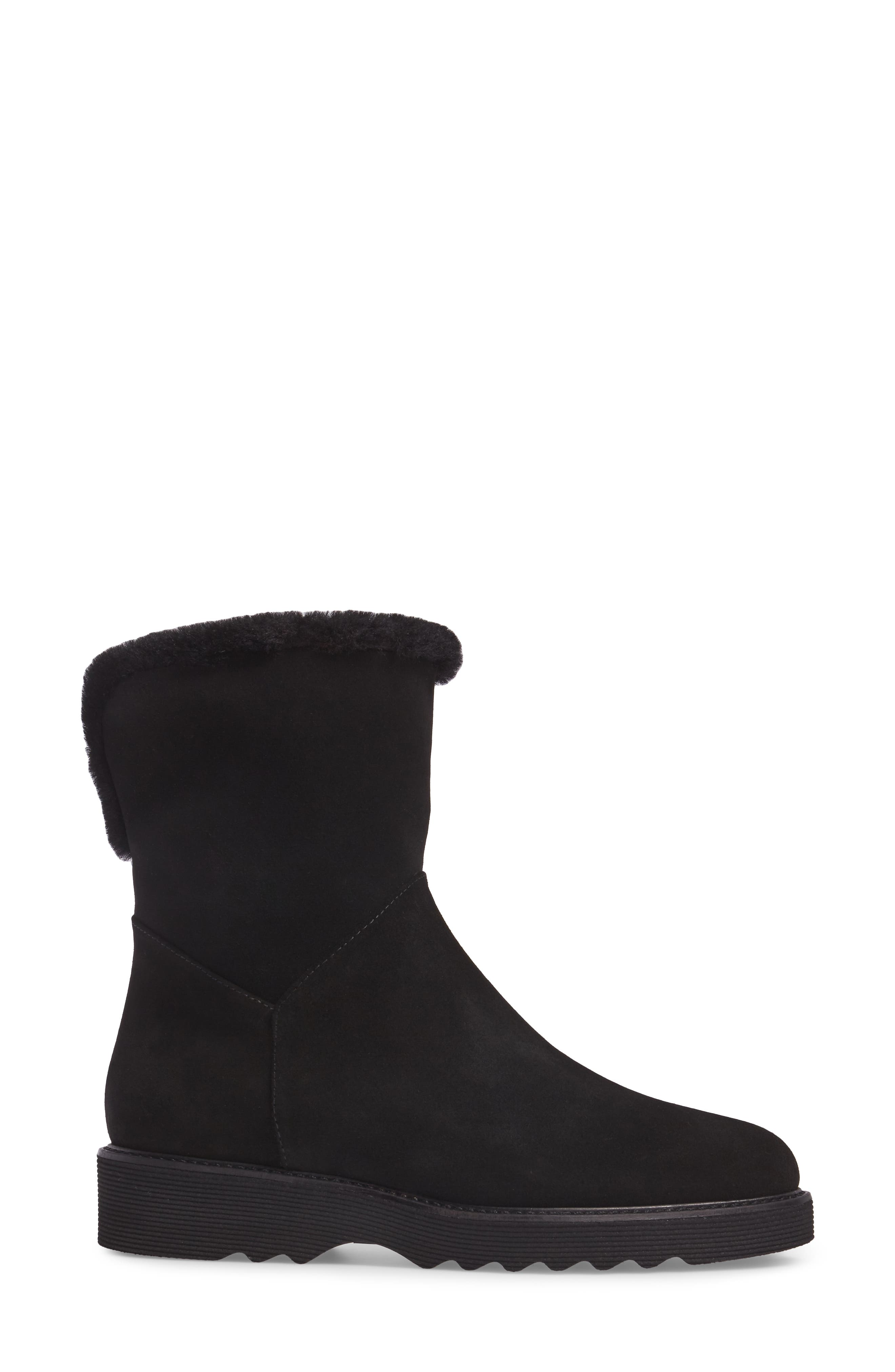Kimberly Weatherproof Genuine Shearling Bootie,                             Alternate thumbnail 9, color,