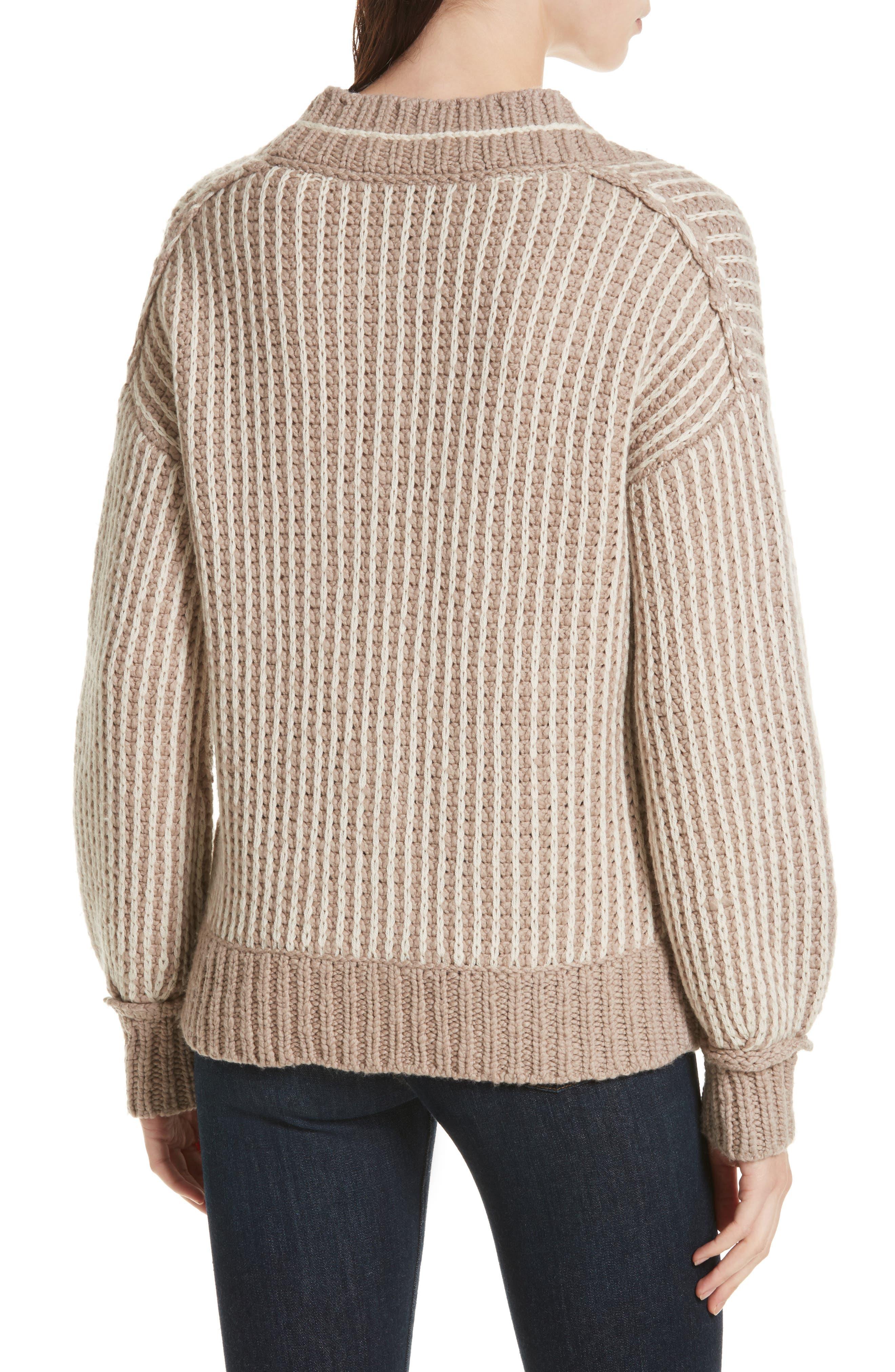 Jessen Stripe Wool & Cashmere Sweater,                             Alternate thumbnail 2, color,                             210