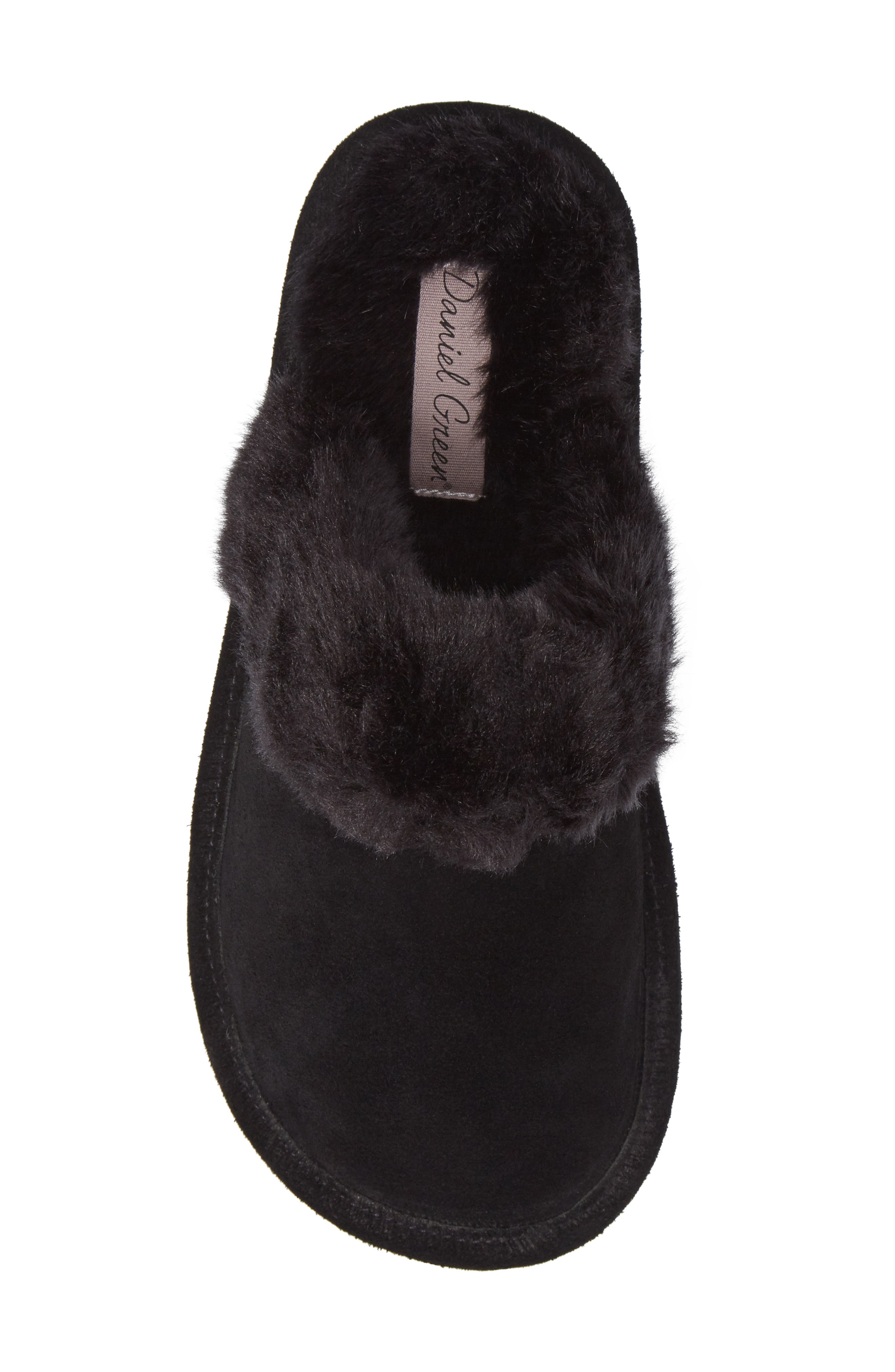 Pammy Faux Fur Slipper,                             Alternate thumbnail 5, color,                             001