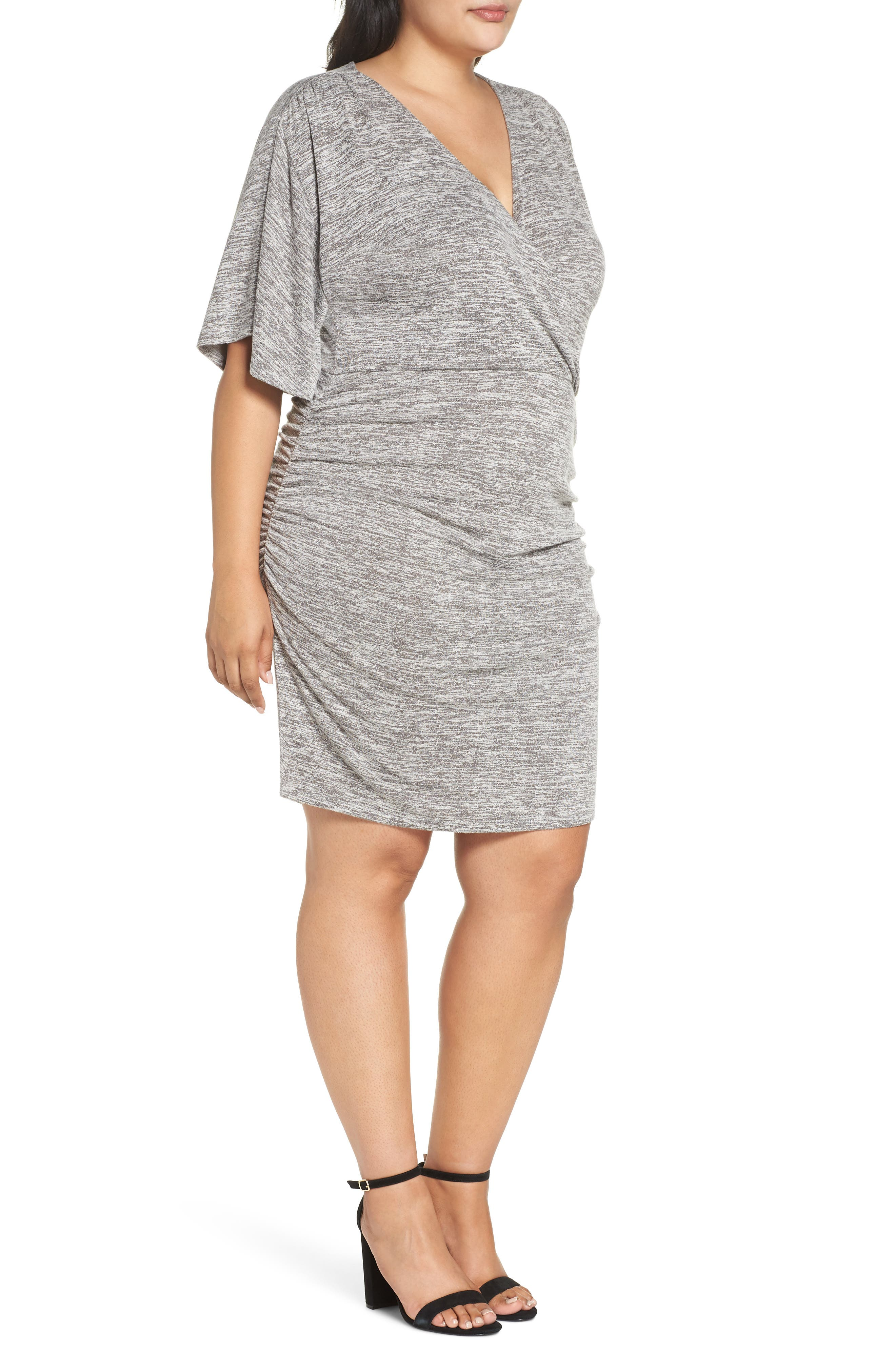Wrap Dress,                             Alternate thumbnail 10, color,                             GREY CLOUDY HEATHER