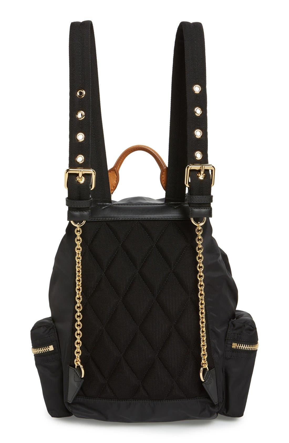 'Medium Runway Rucksack' Nylon Backpack,                             Alternate thumbnail 4, color,                             BLACK