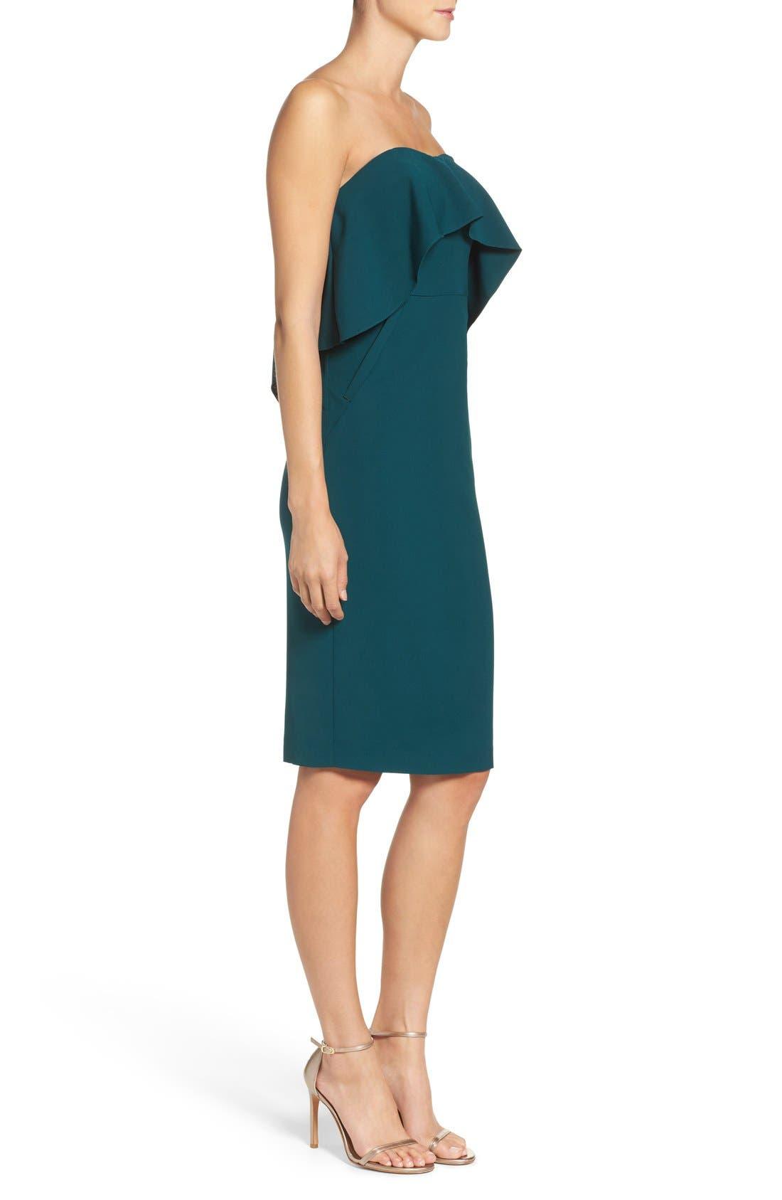 Ruffle Stretch Crepe Sheath Dress,                             Alternate thumbnail 35, color,